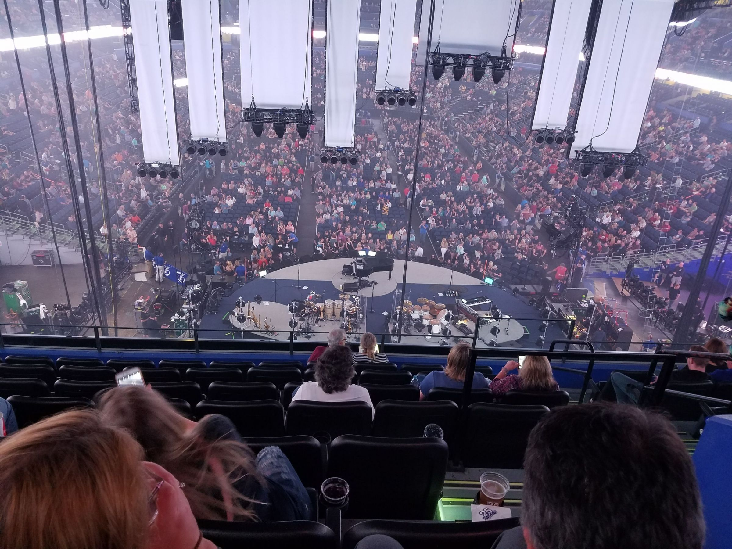 Concert Seat View for Amalie Arena Club 5, Row H, Seat 2