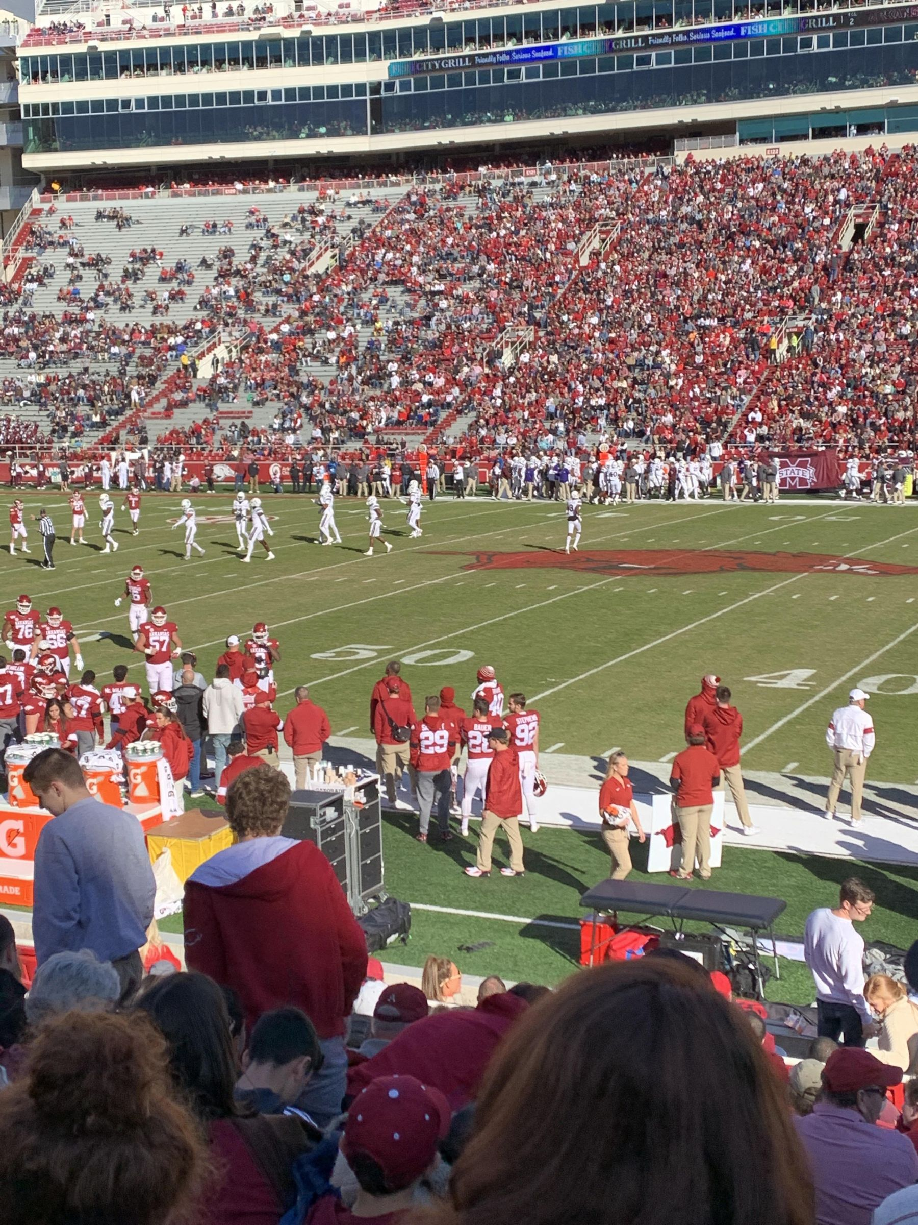 Seat View for Razorback Stadium Section 103, Row 12