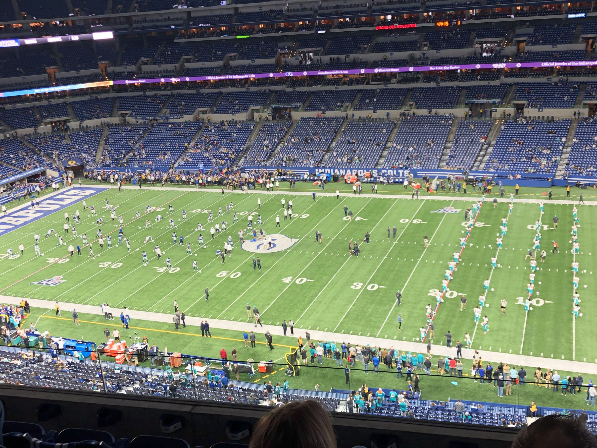 Indianapolis Colts Seat View for Lucas Oil Stadium Section 510, Row 5