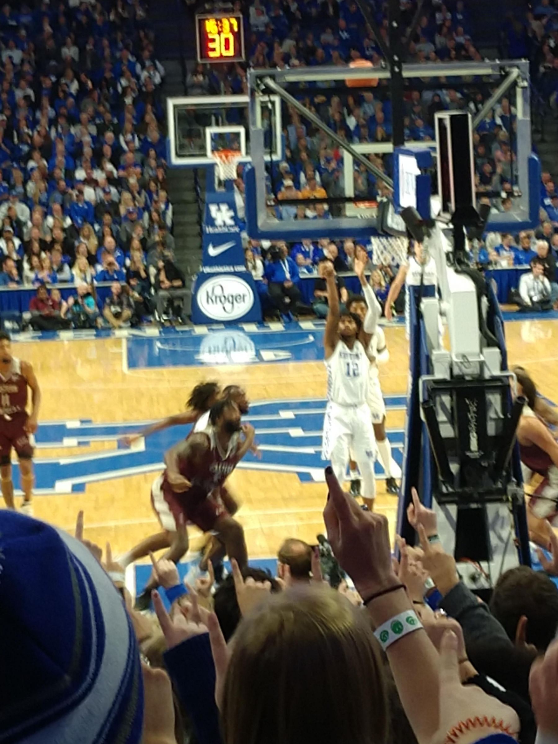 Seat View for Rupp Arena Section 40, Row MM, Seat 3