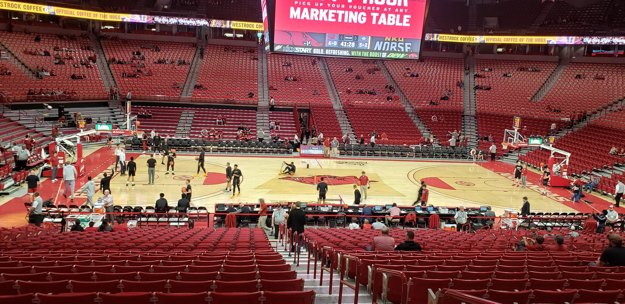 Seat View for Bud Walton Arena Section 119, Row 14