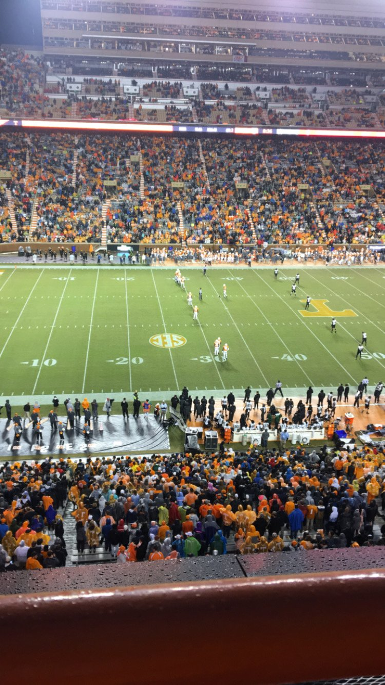 Seat View for Neyland Stadium Section EE, Row 1, Seat 31