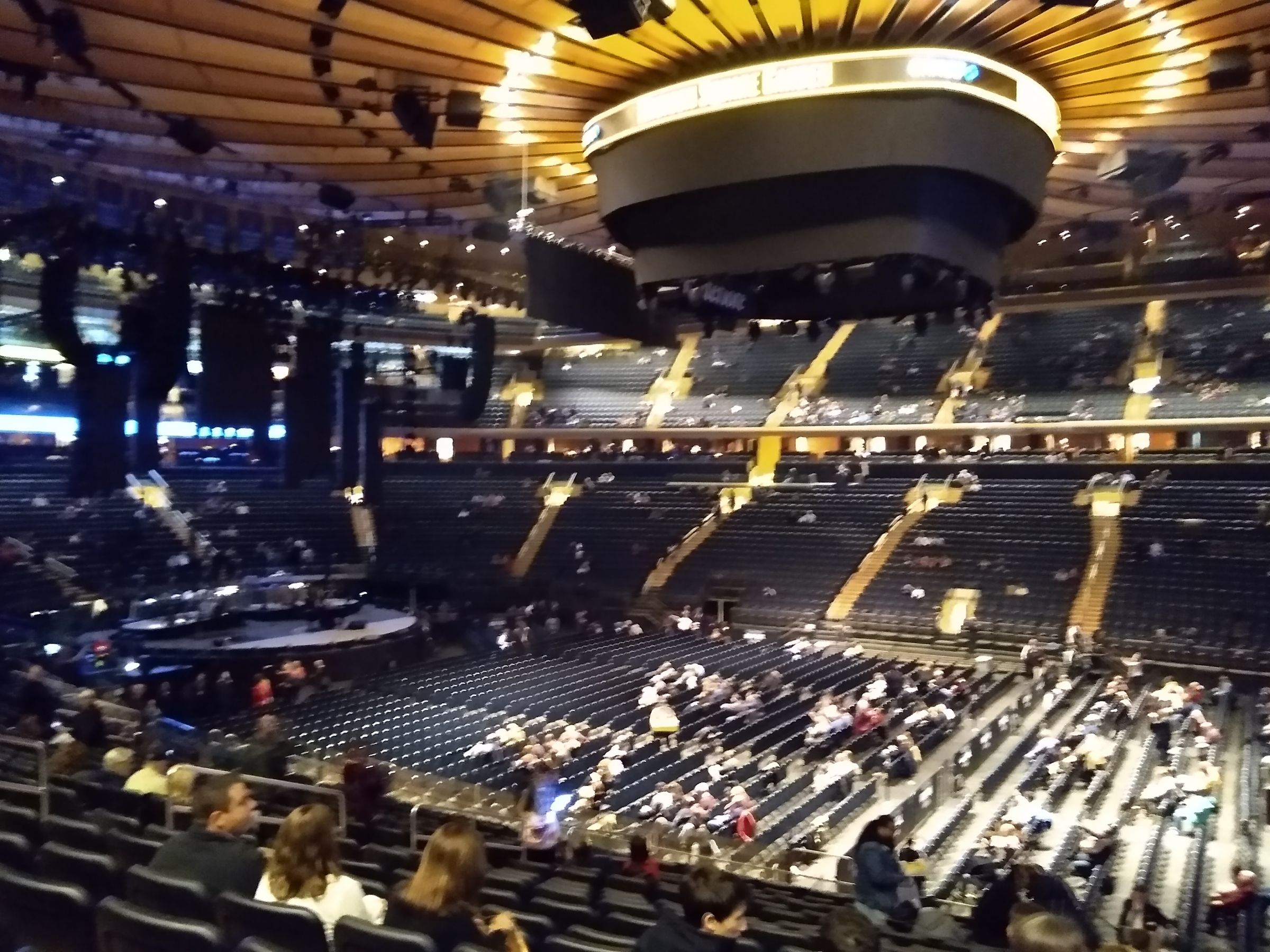 Concert Seat View for Madison Square Garden Section 118, Row 21