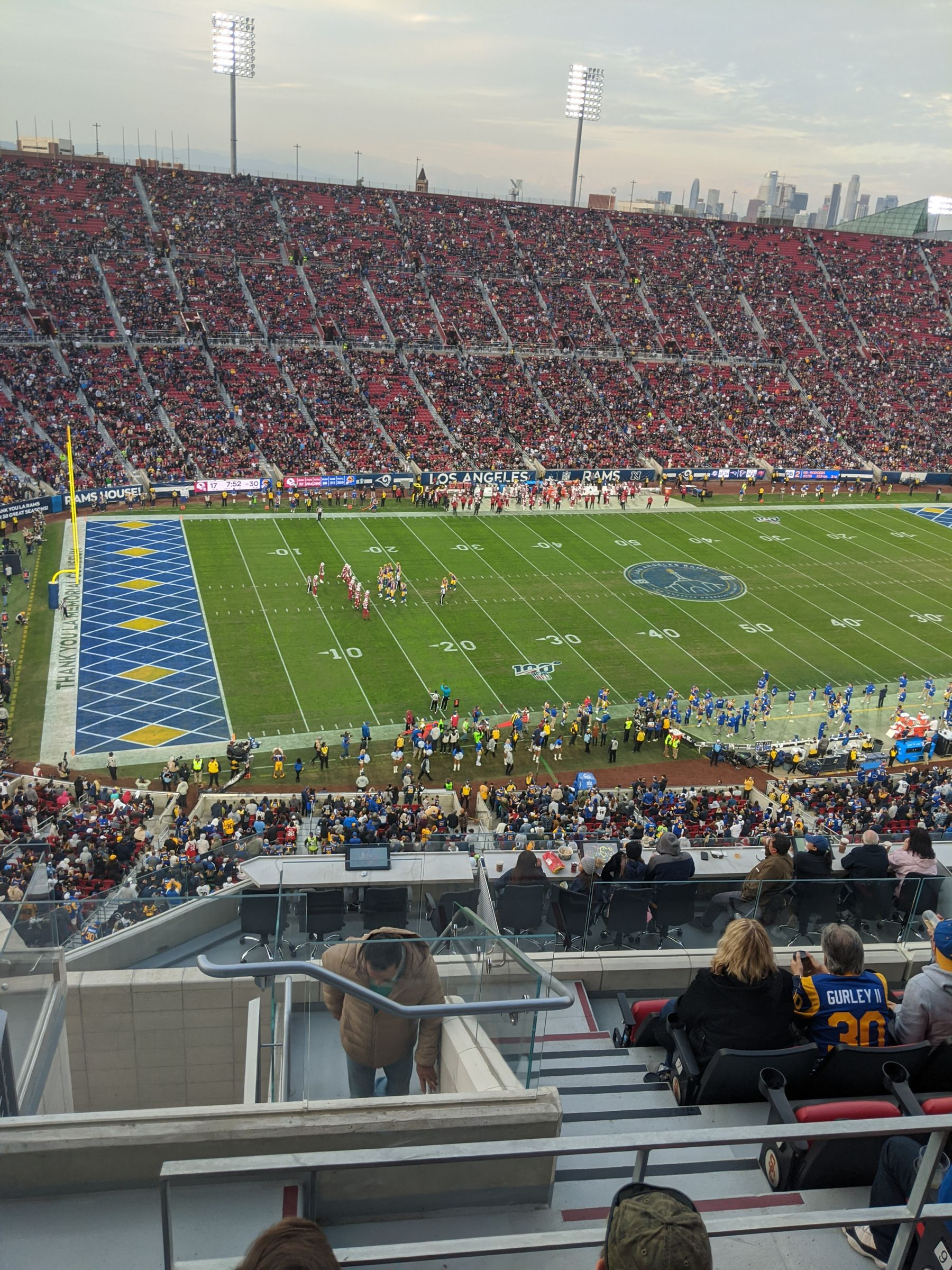 Seat View for Los Angeles Memorial Coliseum Club 411, Row 12, Seat 11