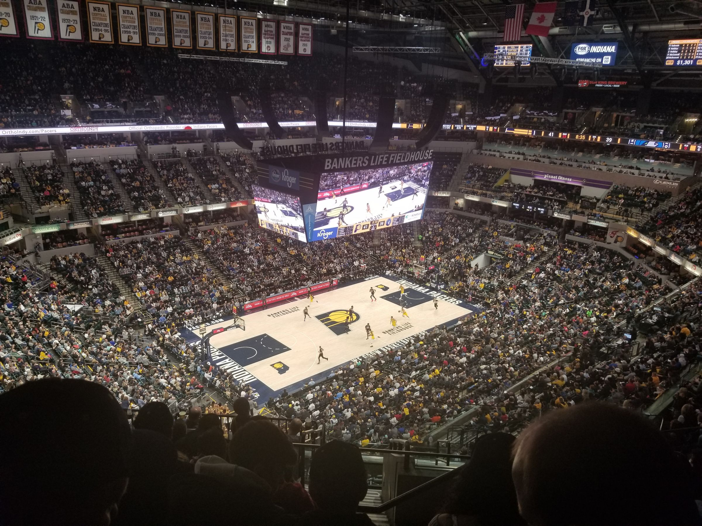 Seat View for Bankers Life Fieldhouse Section 228, Row 11, Seat 2