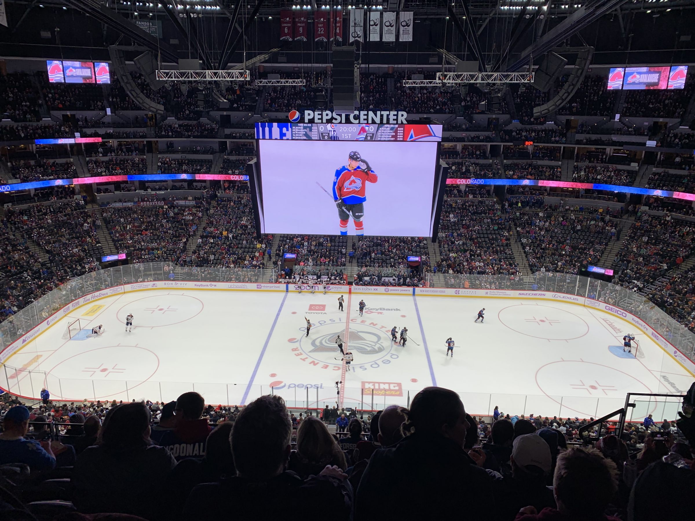 Colorado Avalanche Seat View for Ball Arena Section 342, Row 11, Seat 8
