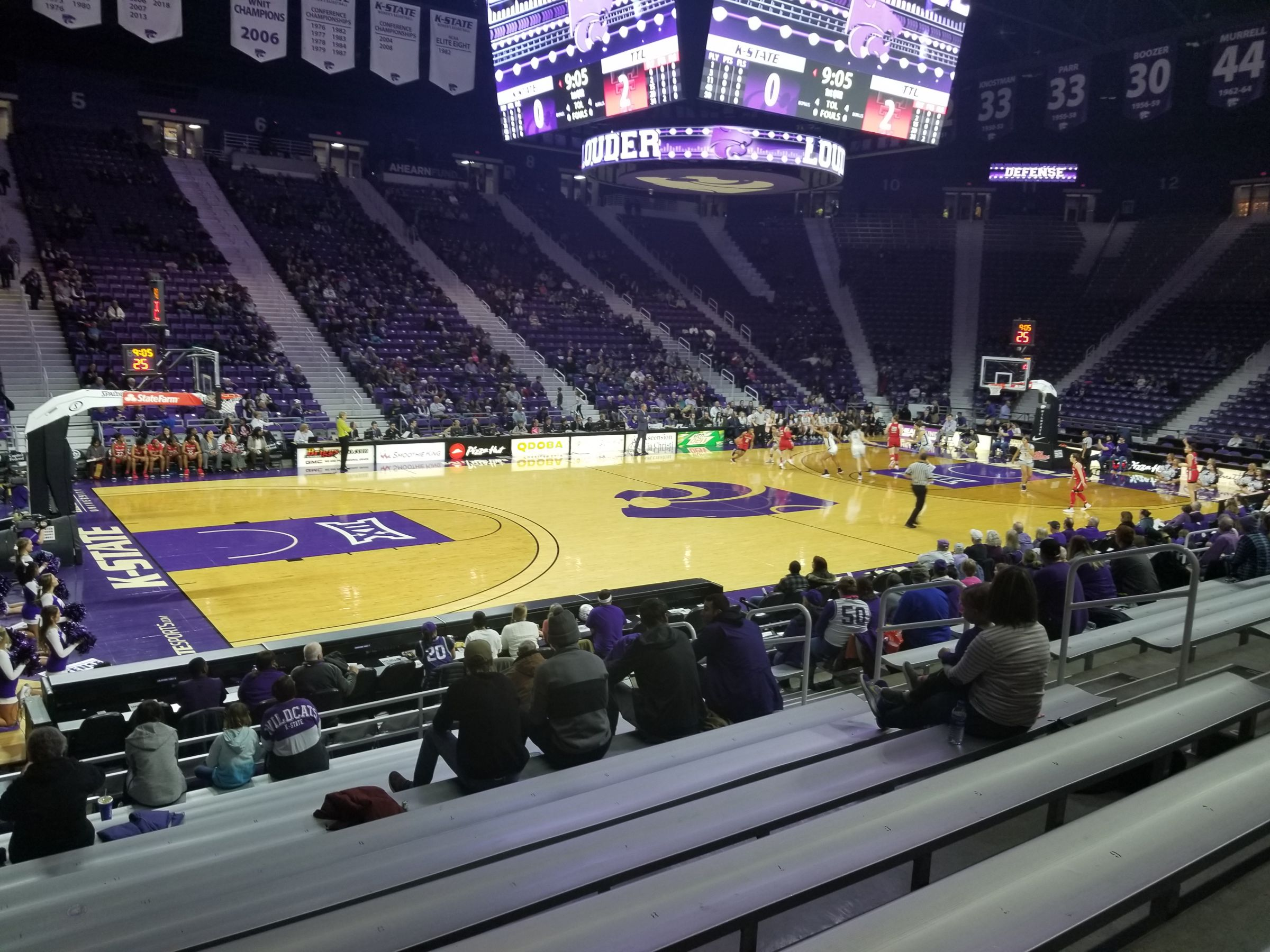 Seat View for Bramlage Coliseum Section 21, Row 12, Seat 12