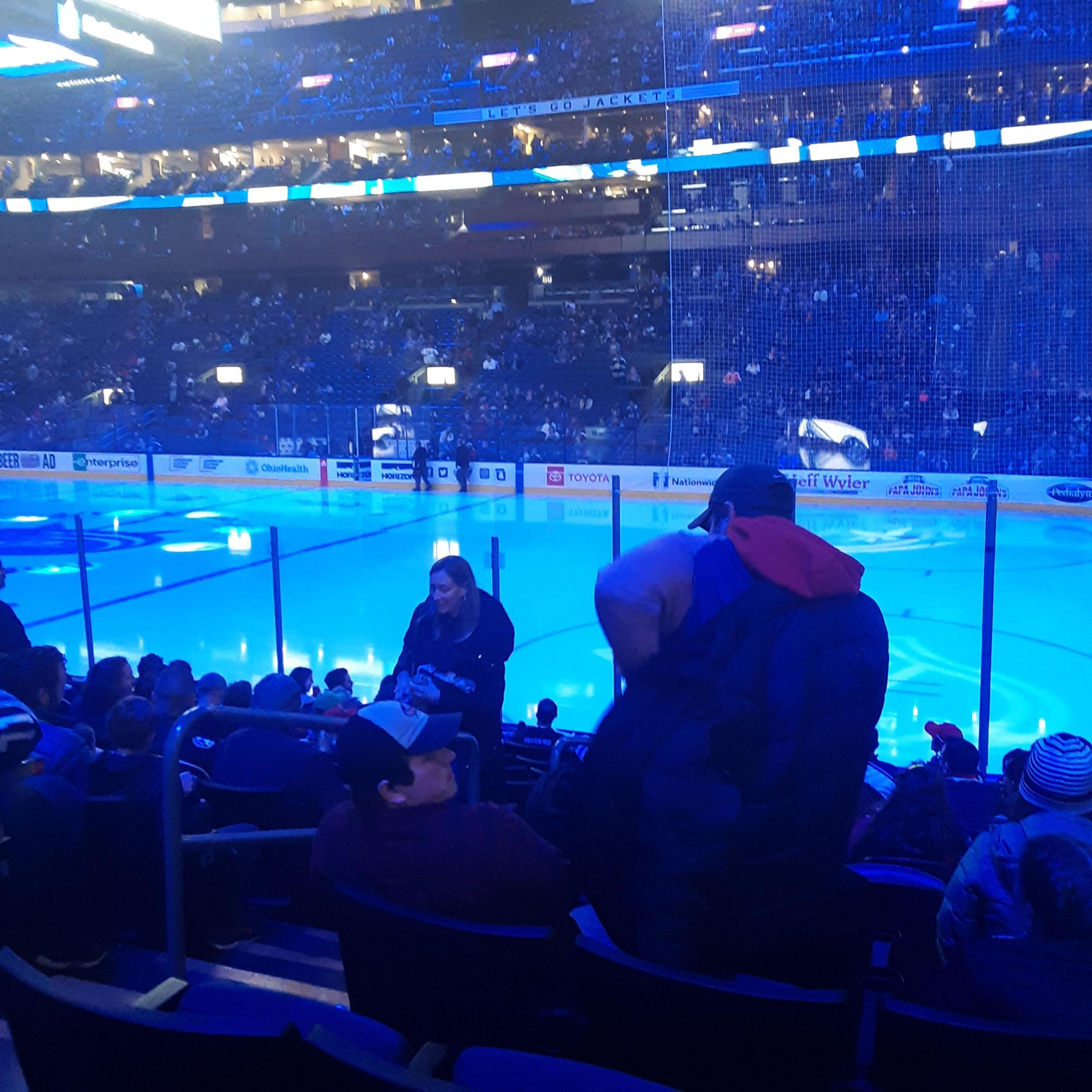 Columbus Blue Jackets Seat View for Nationwide Arena Section 101, Row S