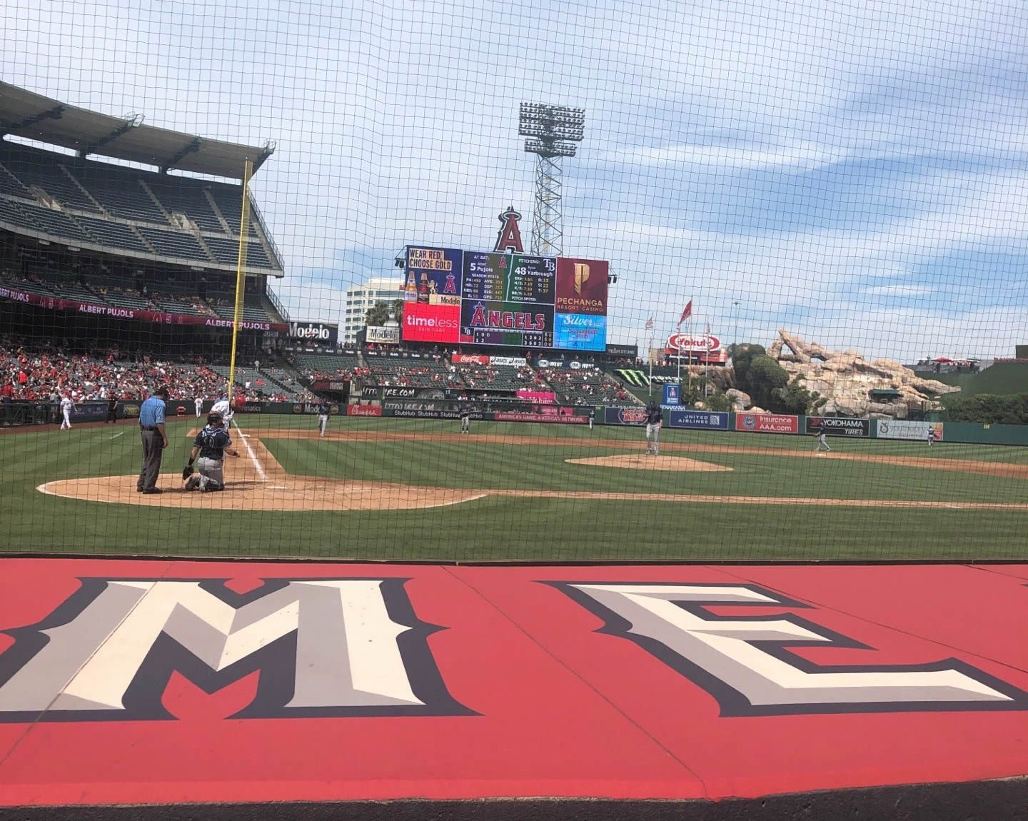 Seat View for Angel Stadium Section 121, Row C