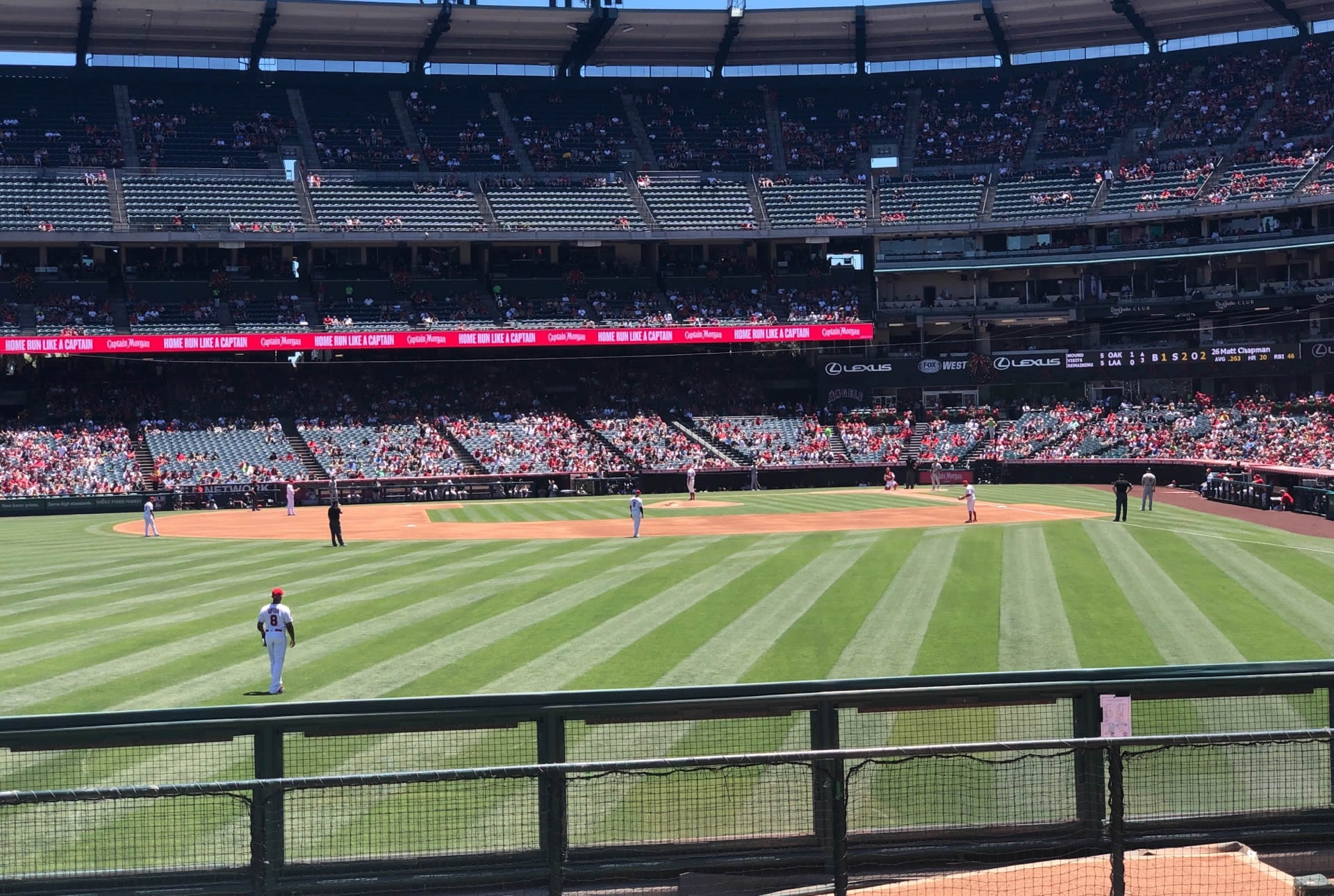 Seat View for Angel Stadium Section 259, Row G