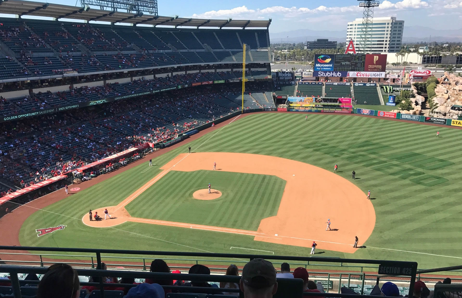 Seat View for Angel Stadium Section 528, Row C