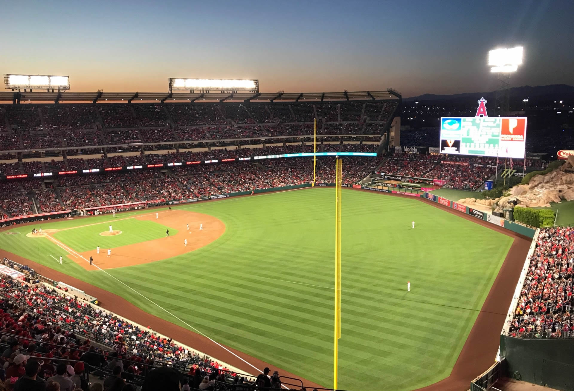 Seat View for Angel Stadium Section 537, Row P