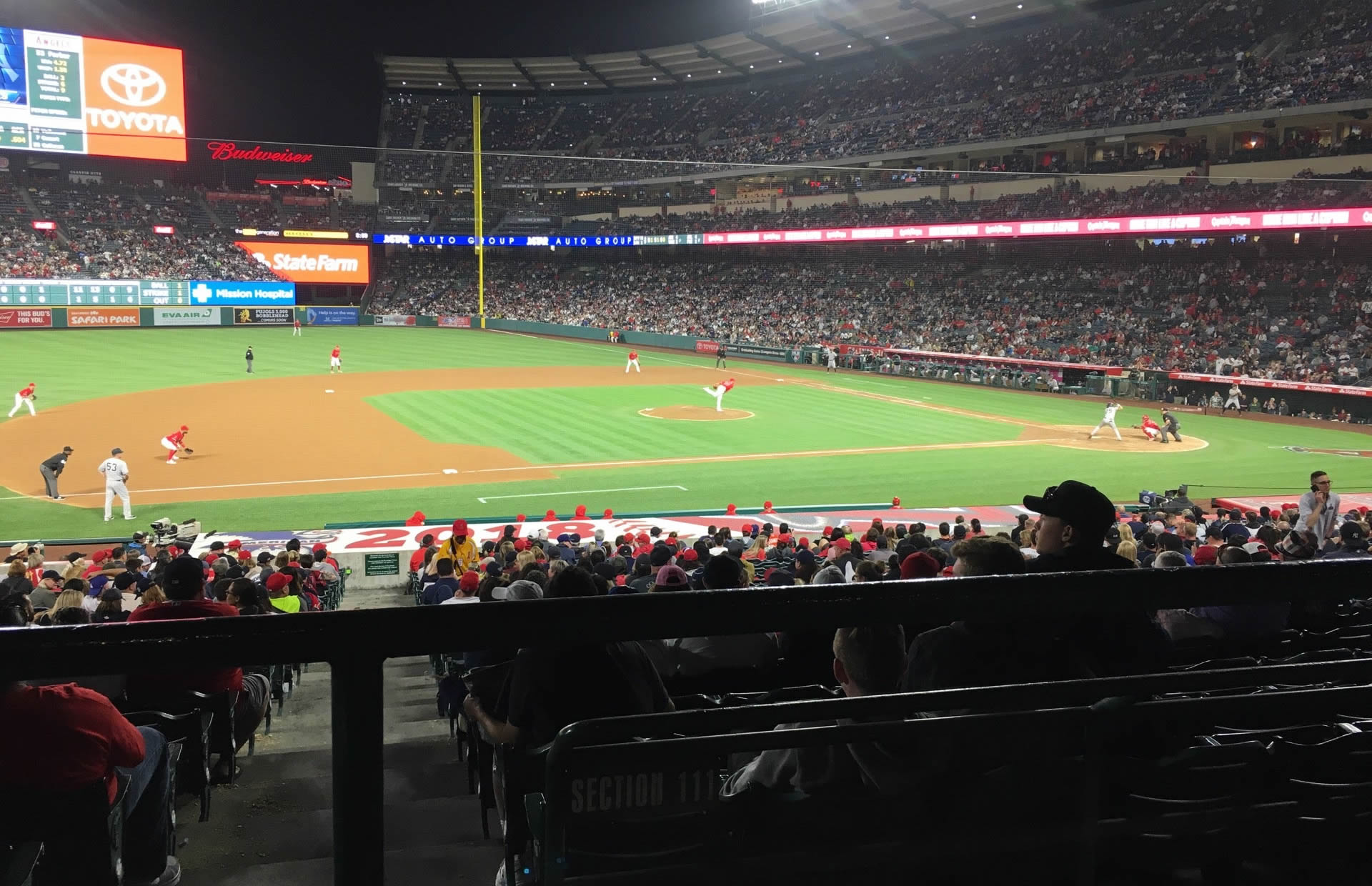 Seat View for Angel Stadium Section 210, Row A