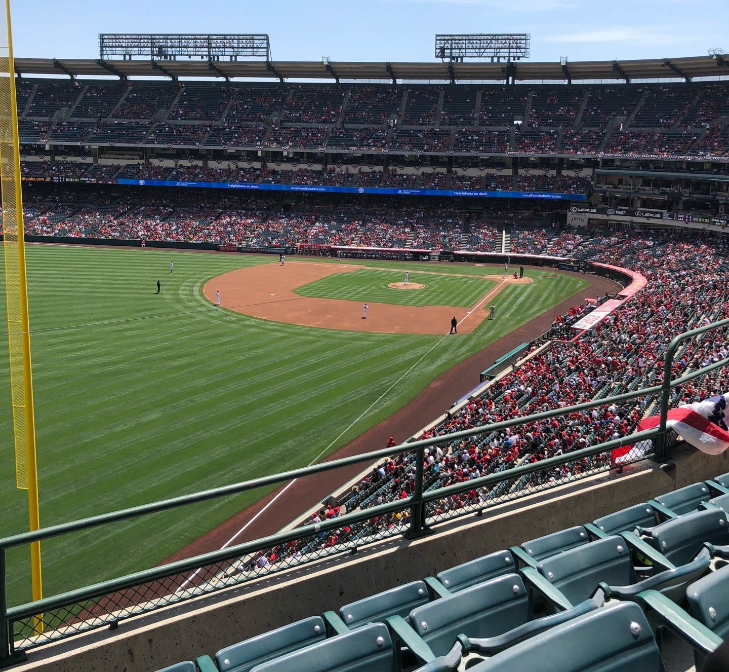 Seat View for Angel Stadium Section 405, Row D