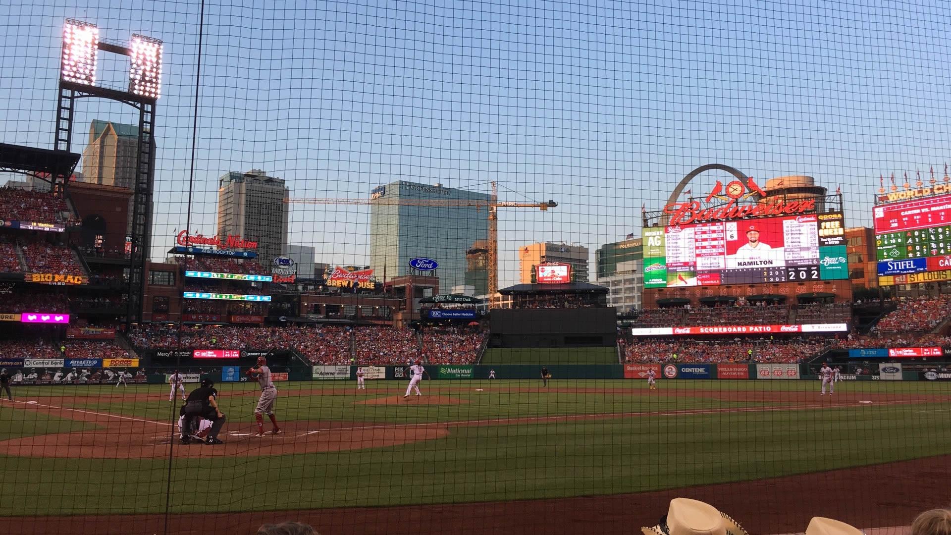 Cardinals Club 3 seat view