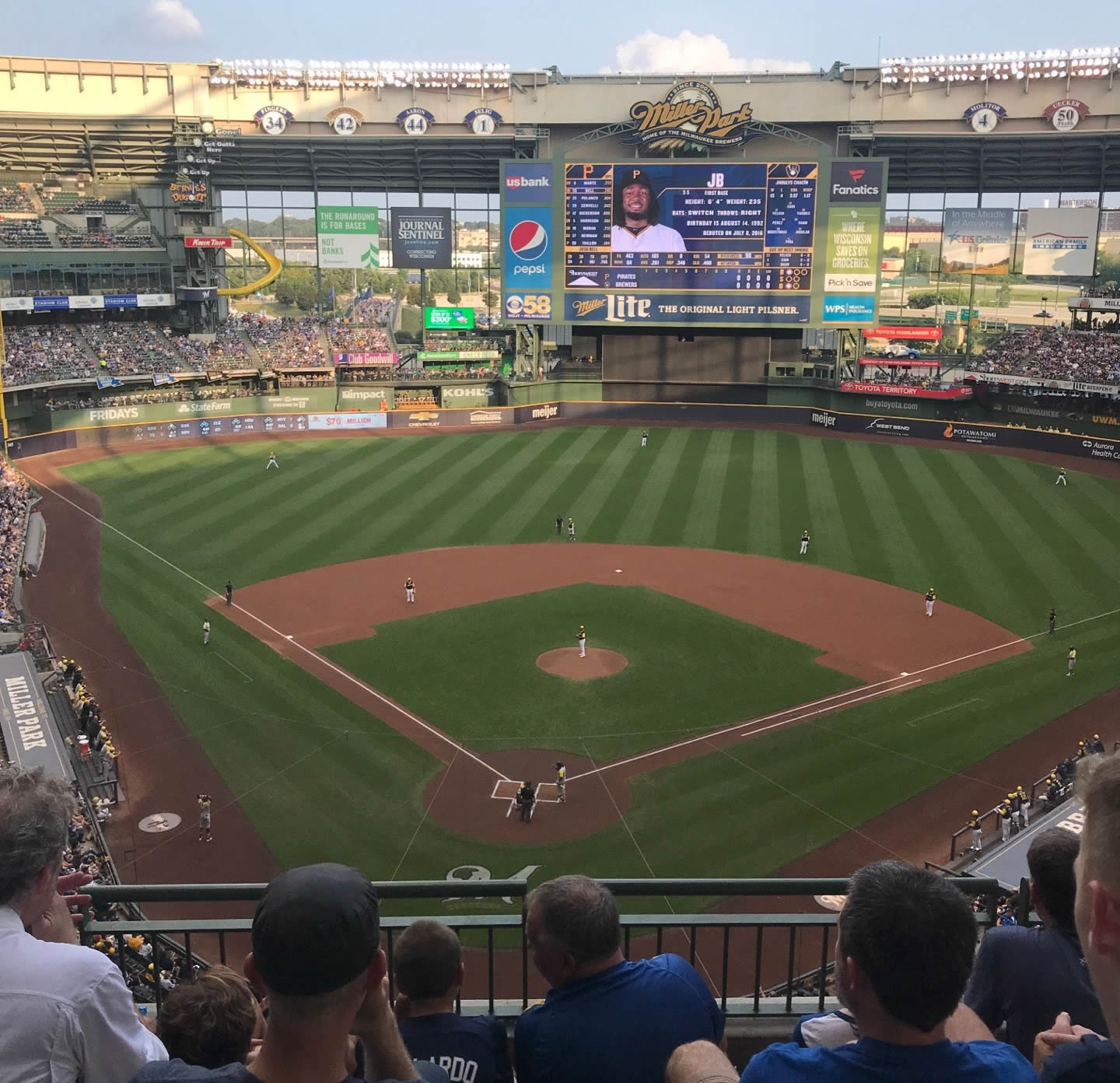 Seat View for American Family Field Section 421, Row 4