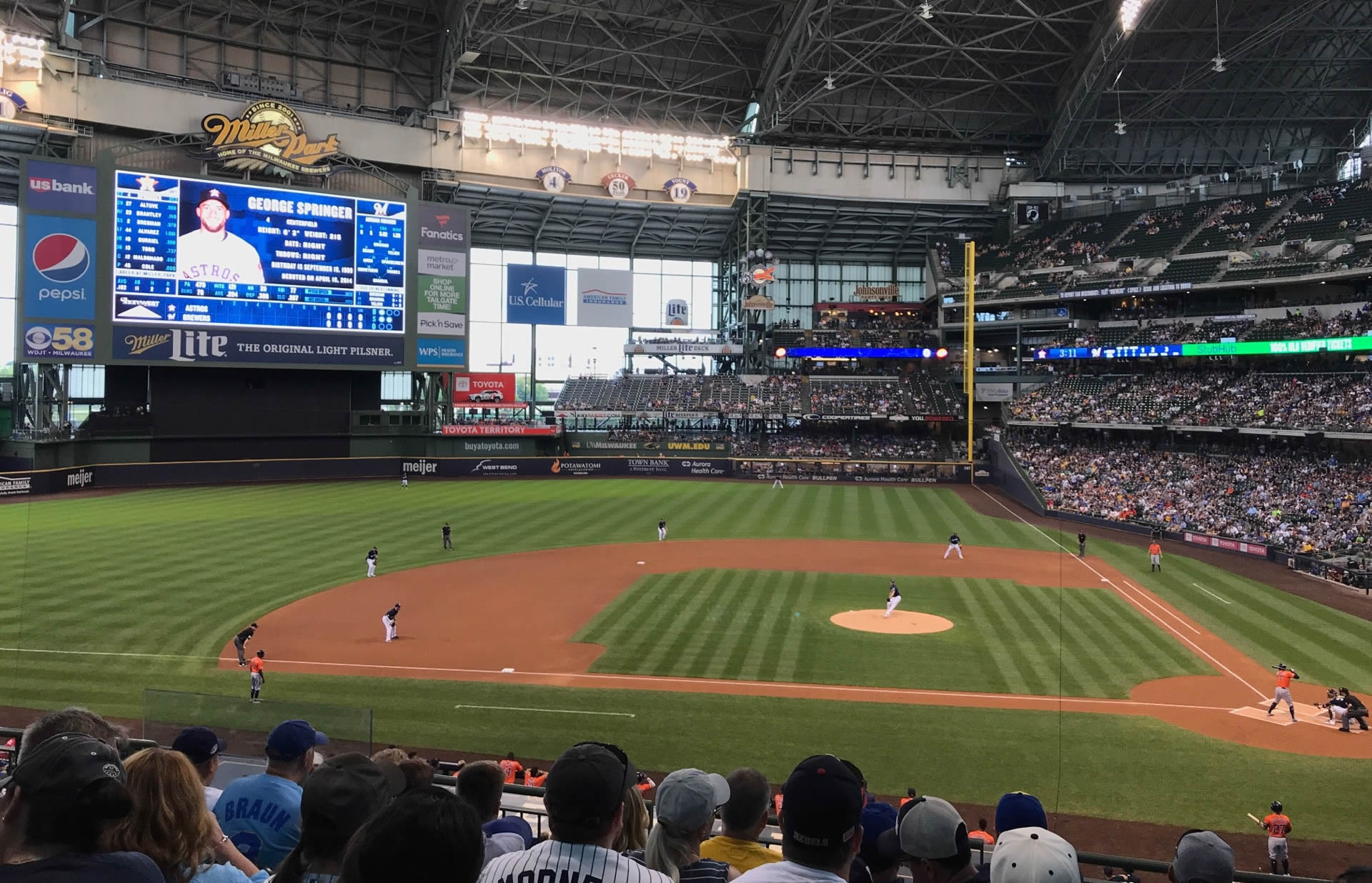 Seat View for American Family Field Section 223, Row 7