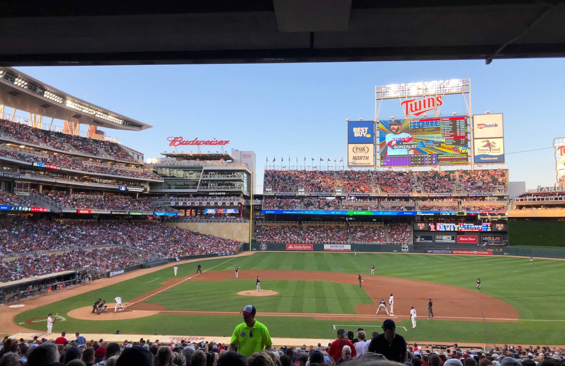Section 109 seat view