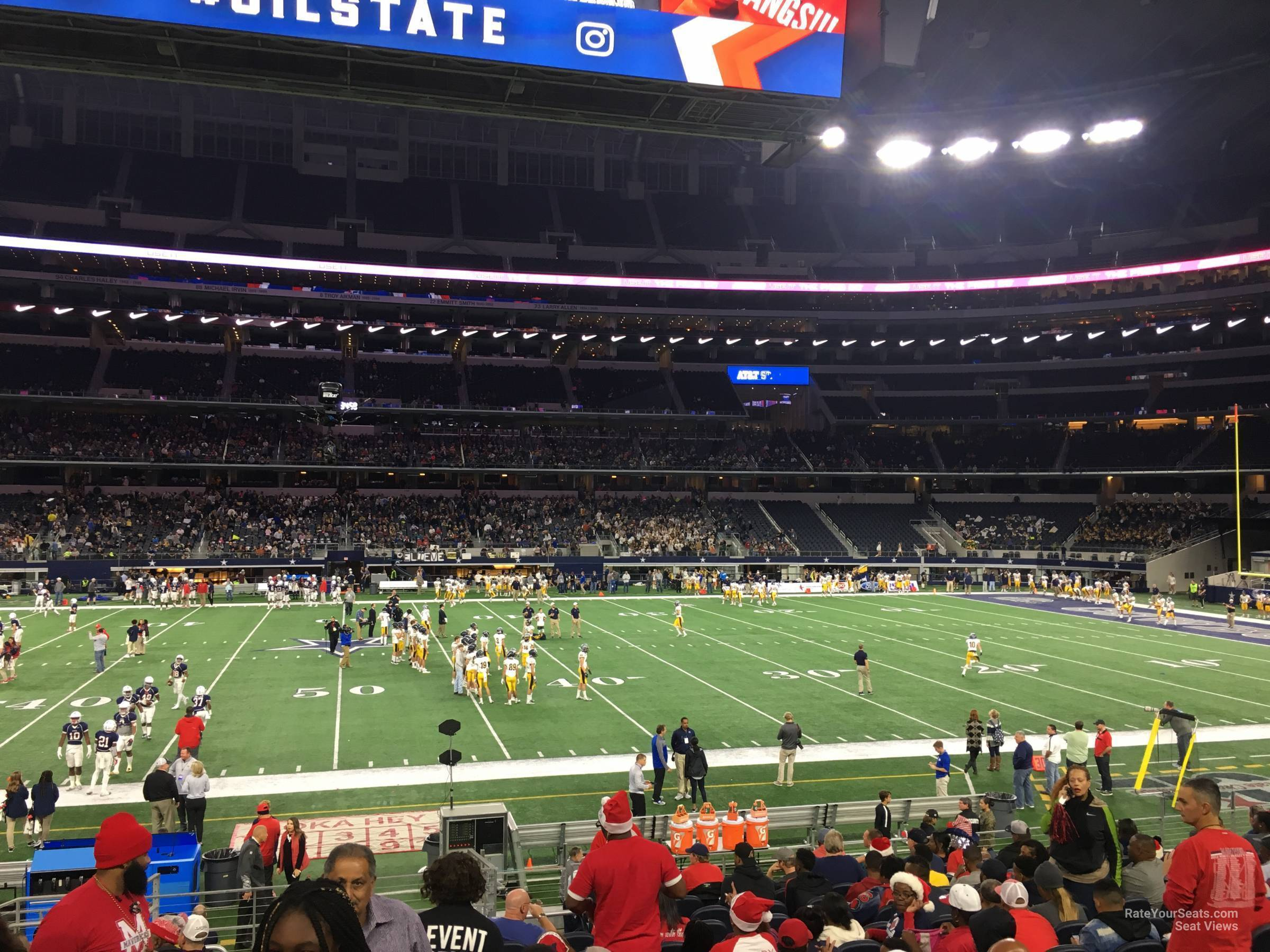 Dallas Cowboys Seat View for AT&T Stadium Section C110, Row 14