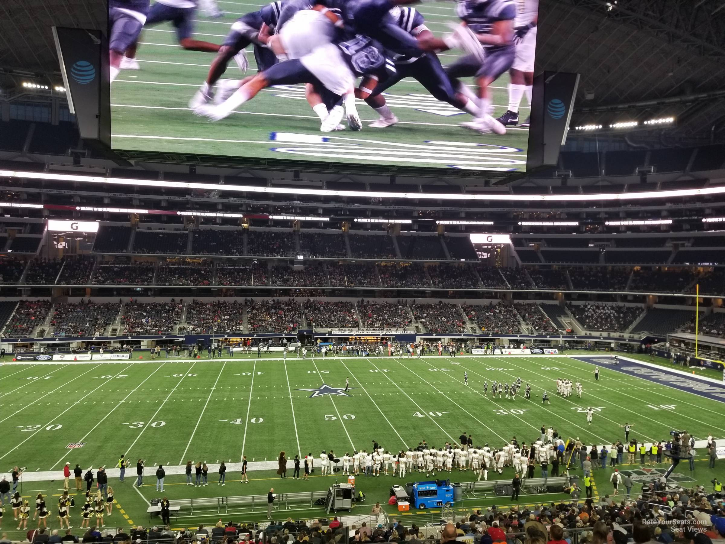 Dallas Cowboys Seat View for AT&T Stadium Section C235, Row 10