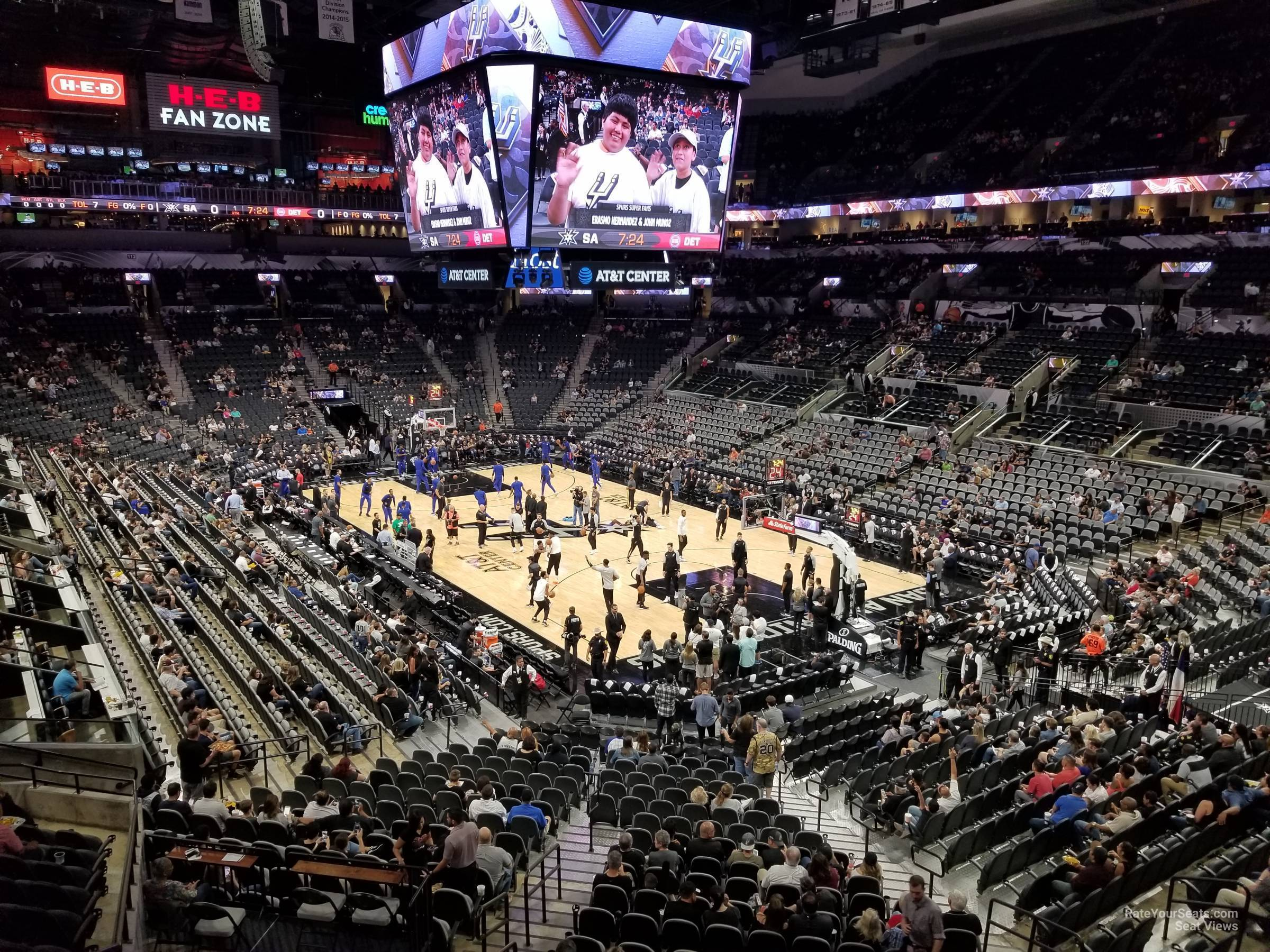 At Amp T Center Section 103 San Antonio Spurs