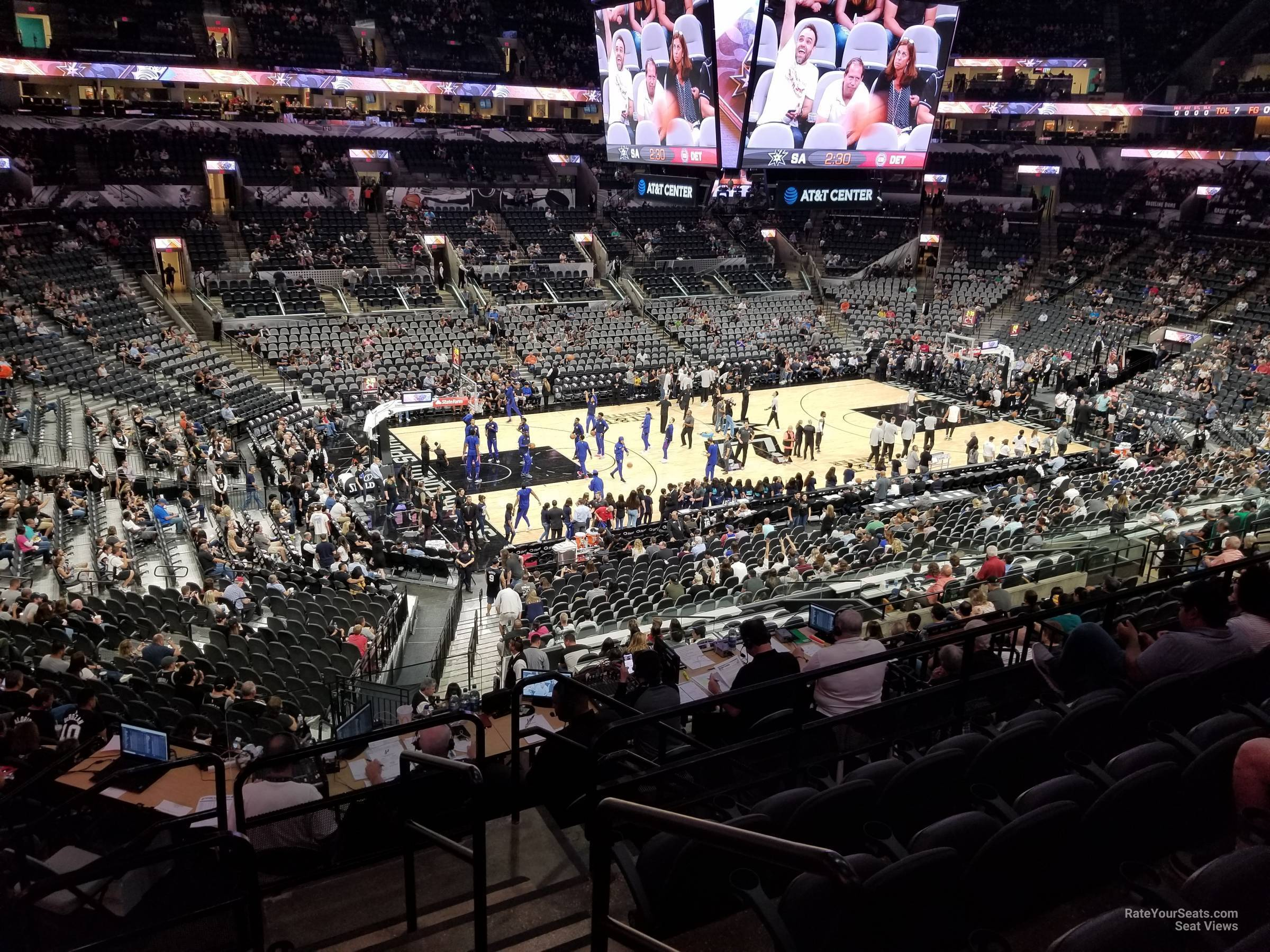 Seat View for AT&T Center Section 110, Row 33
