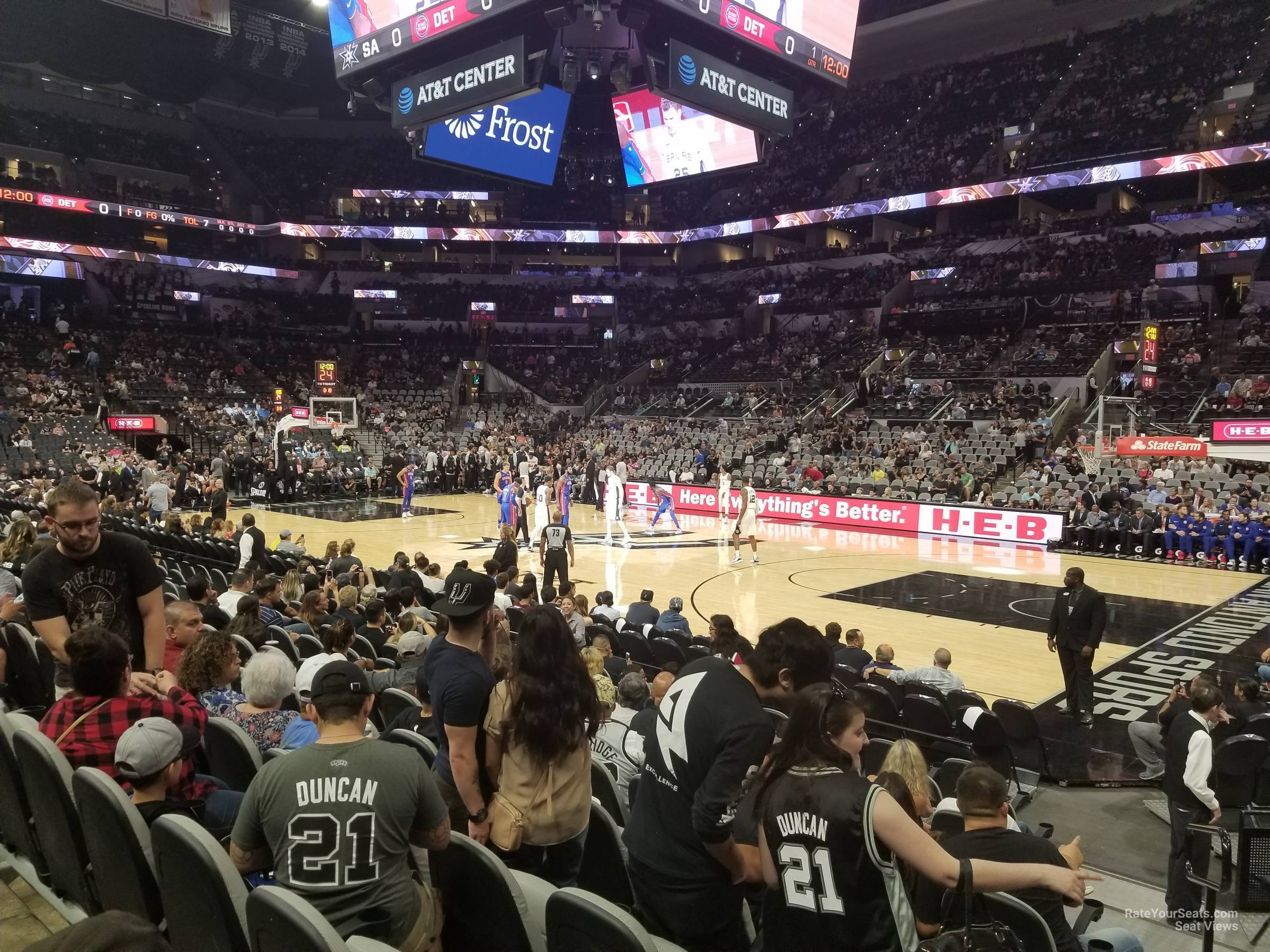 Seat View for AT&T Center Section 20, Row 13