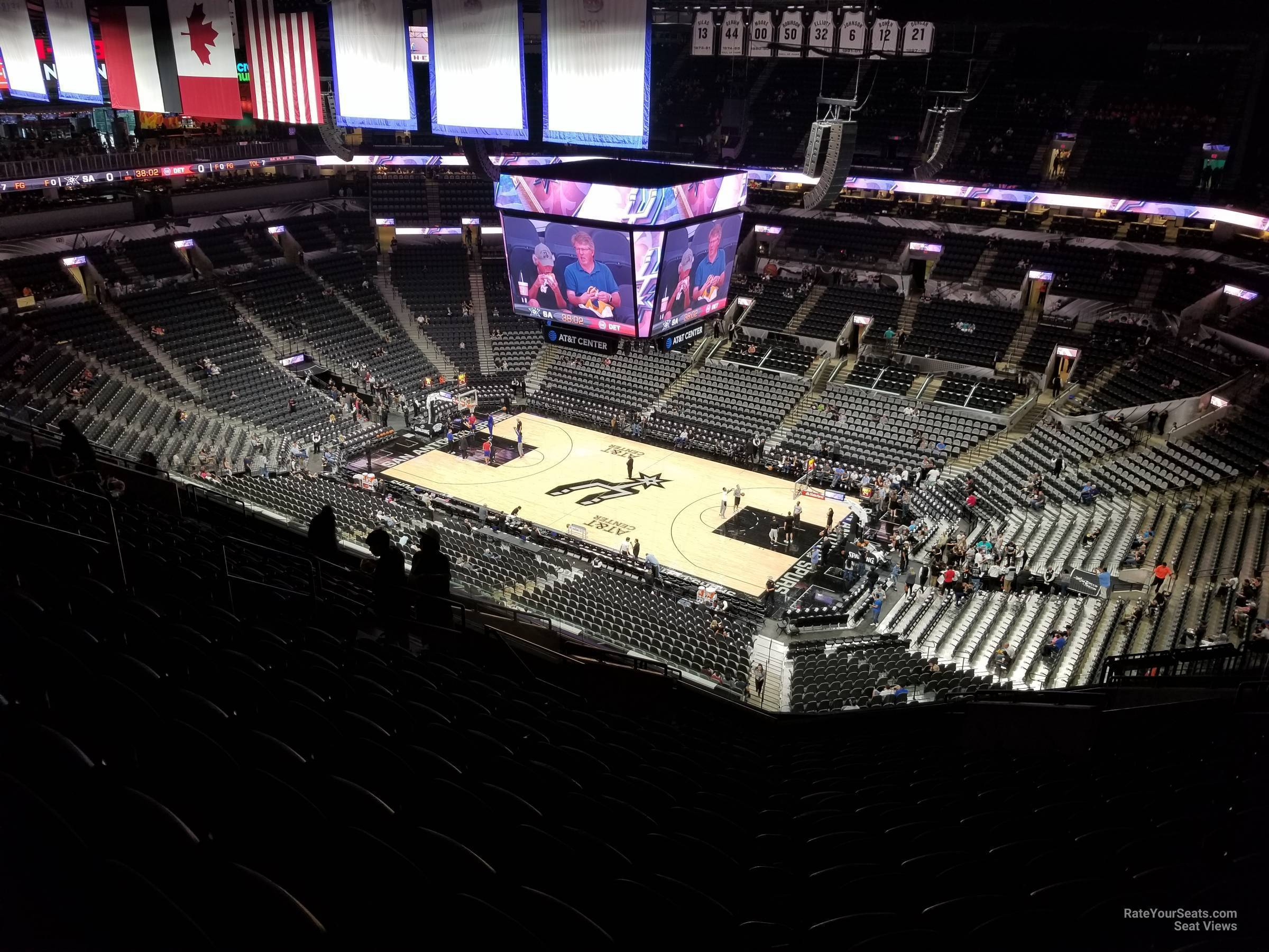 Seat View for AT&T Center Section 205, Row 16