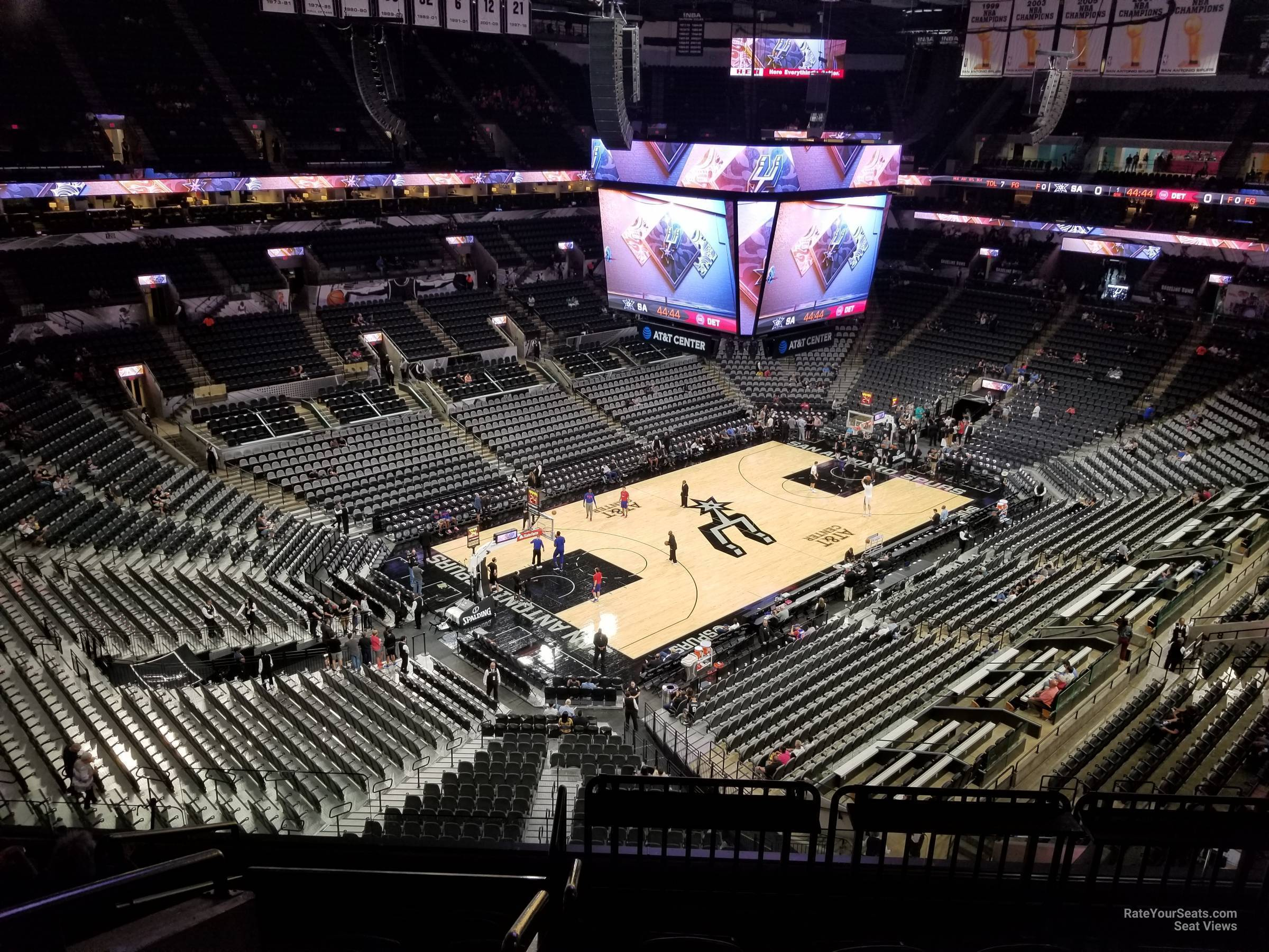 Seat View for AT&T Center Section 212, Row 7