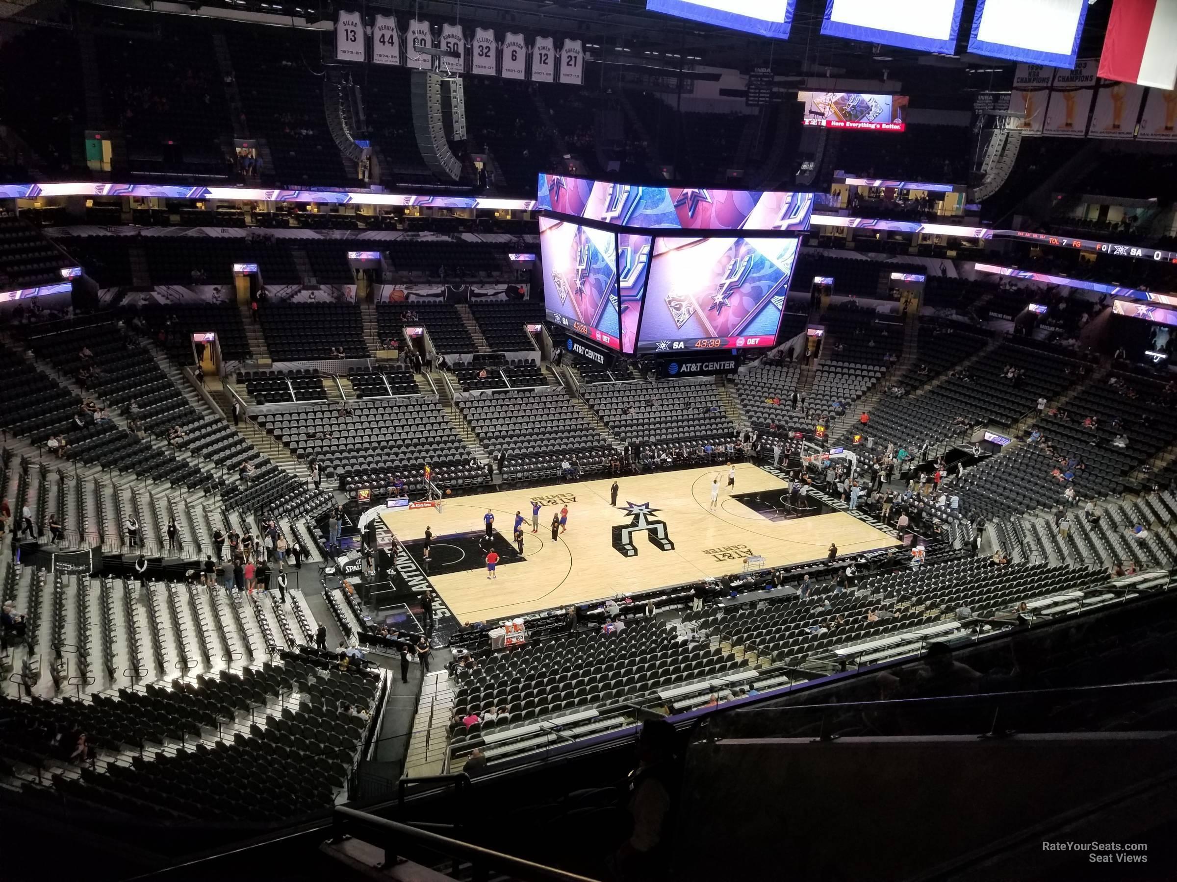 At Amp T Center Section 212 San Antonio Spurs