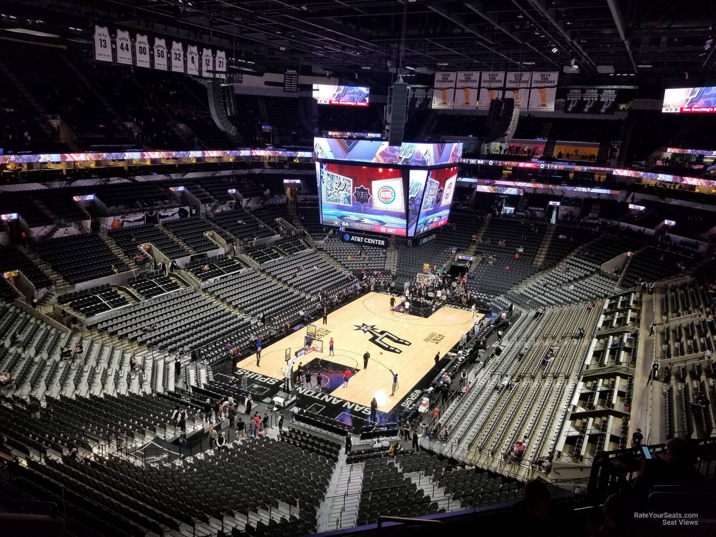Seat View for AT&T Center Section 214, Row 7