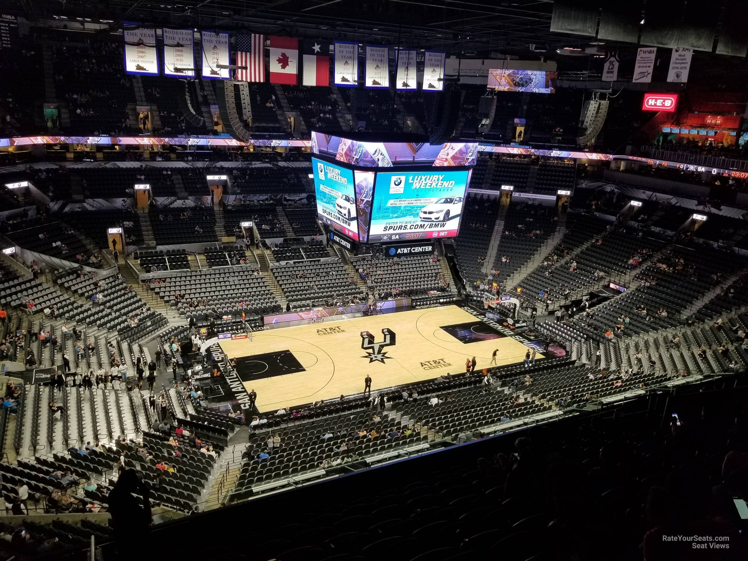 At Amp T Center Section 226 San Antonio Spurs