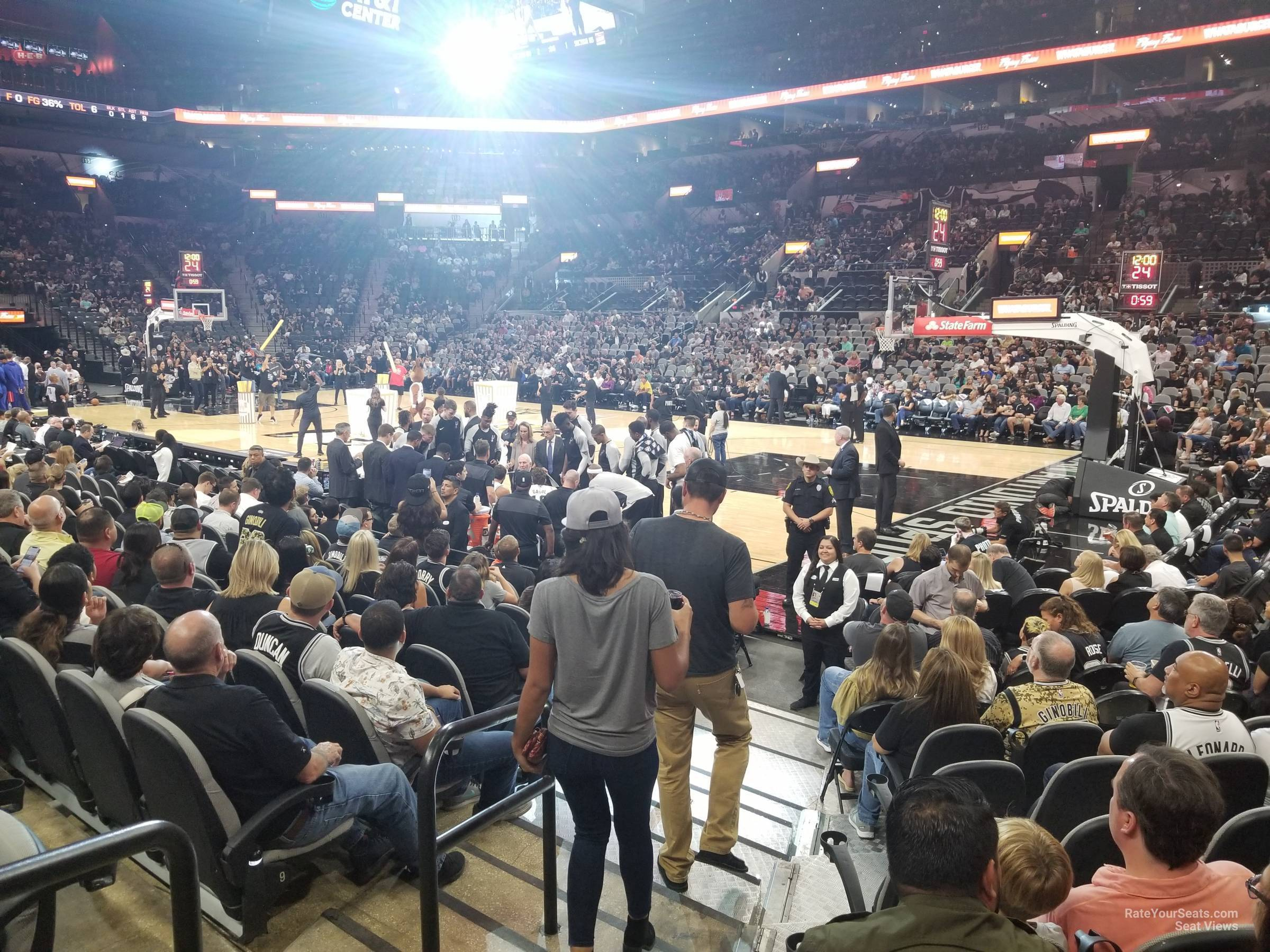 Seat View for AT&T Center Section 4, Row 12