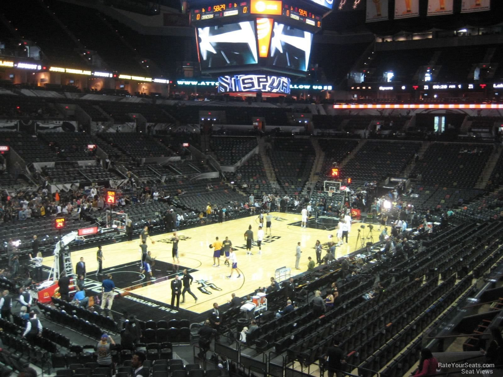 Seat View for AT&T Center Section 111, Row 27