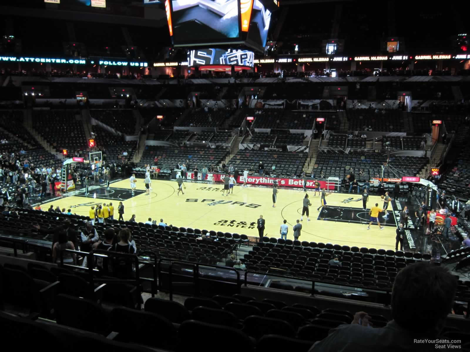 Seat View for AT&T Center Section 121, Row 27, Seat 11