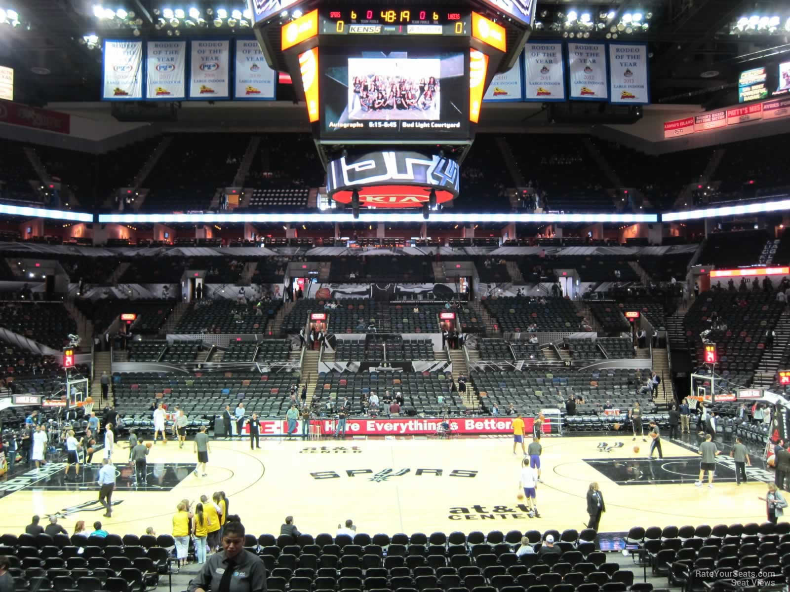 Seat View for AT&T Center Section 122, Row 22, Seat 1