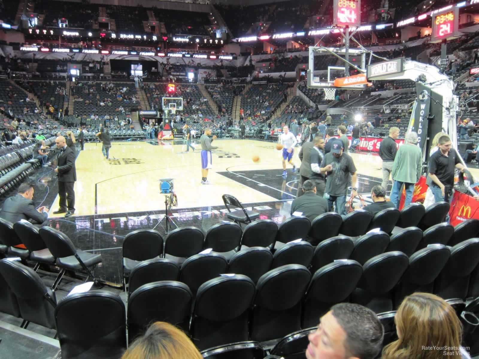 Seat View for AT&T Center Section 16