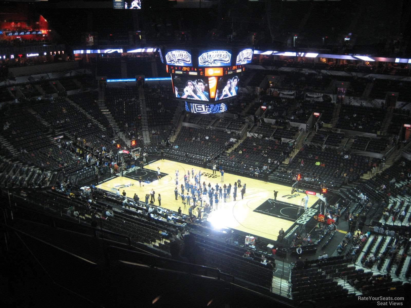Seat View for AT&T Center Section 205, Row 10