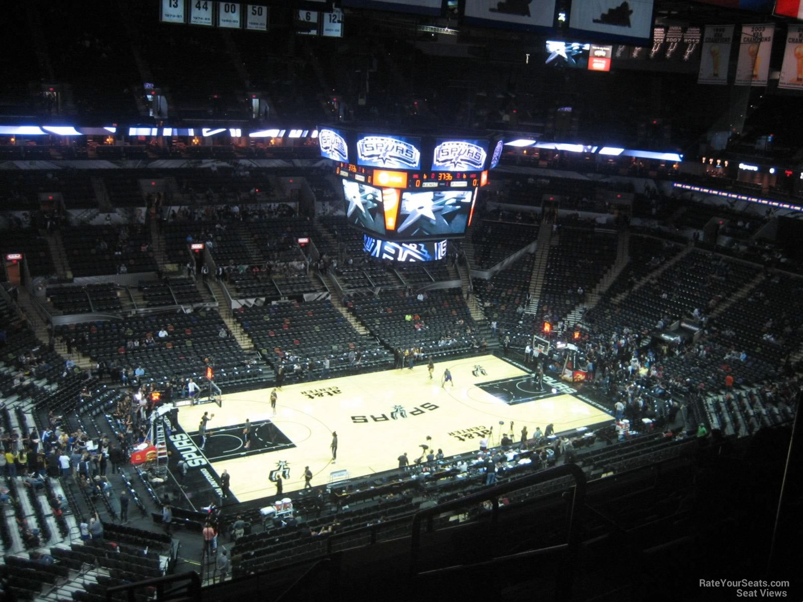 Seat View for AT&T Center Section 211, Row 11
