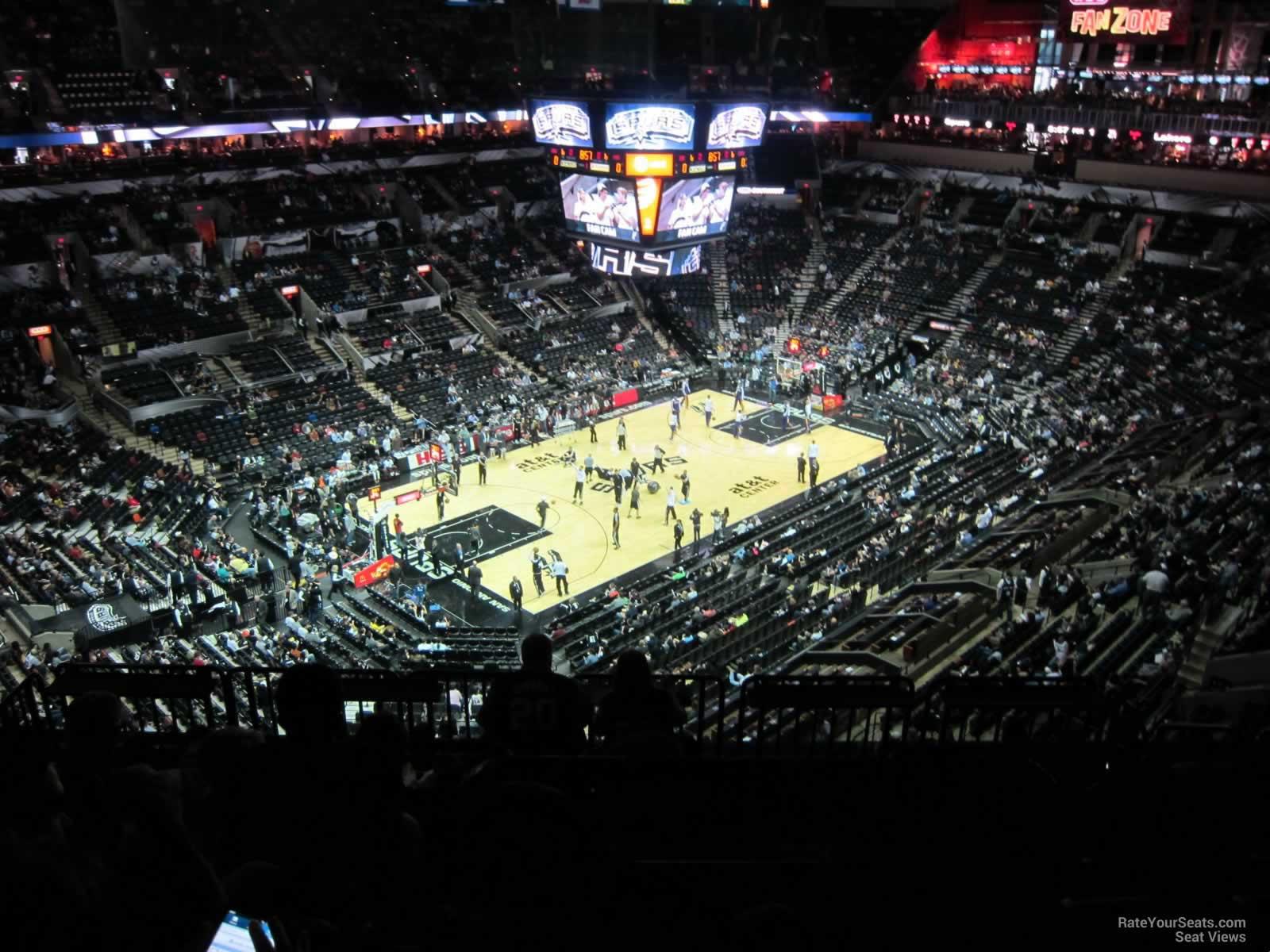 At Amp T Center Section 228 San Antonio Spurs