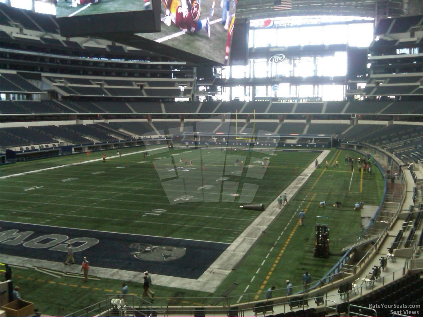 Dallas Cowboys Seat View for AT&T Stadium Section 244, Row 2, Seat 10