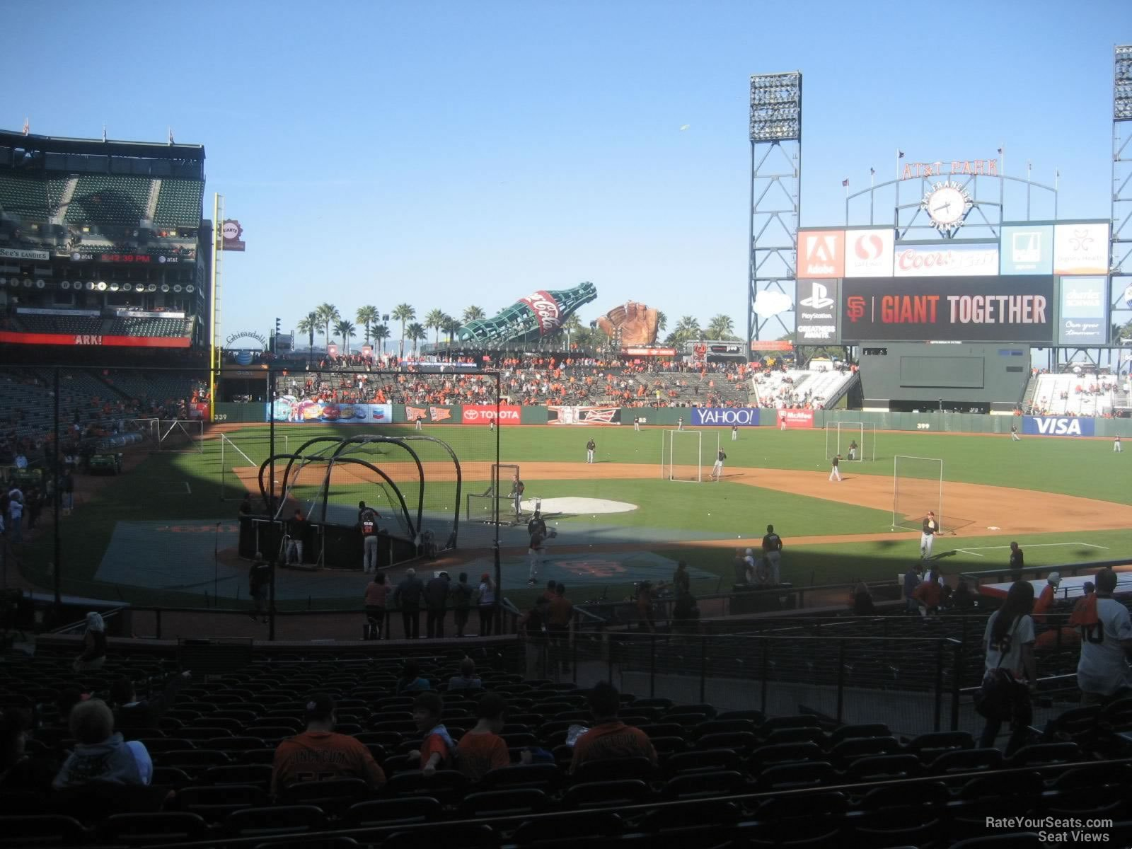 San Francisco Giants Seat View For ATT Park Section 112