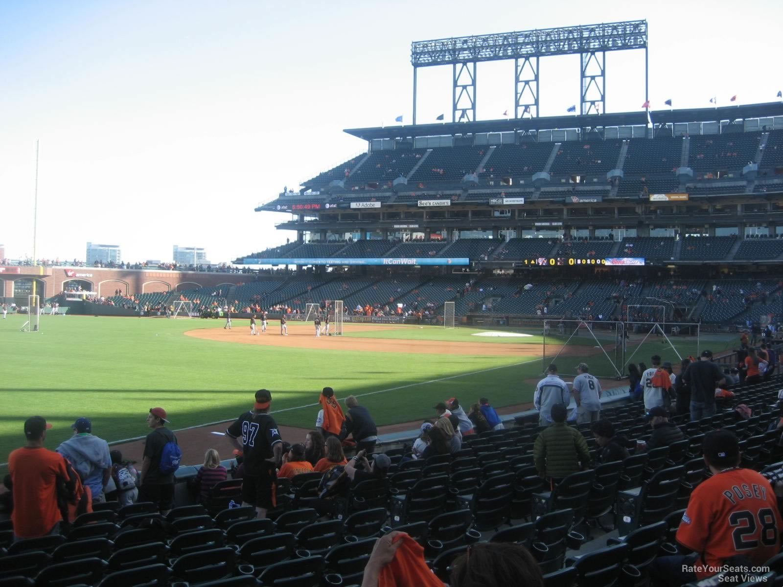 San Francisco Giants Seat View for Oracle Park Section 131, Row 12