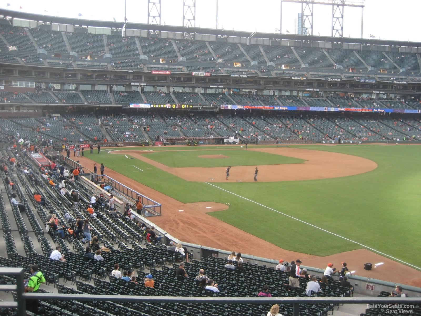 San Francisco Giants Seat View for AT&T Park Section 151