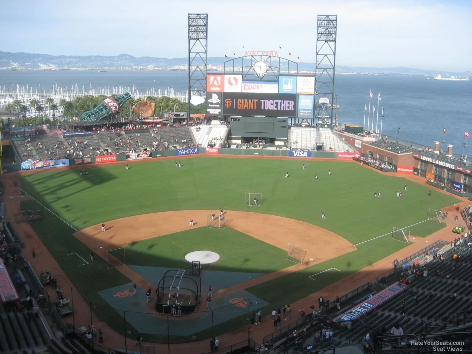 San Francisco Giants Seat View For ATT Park Section 314