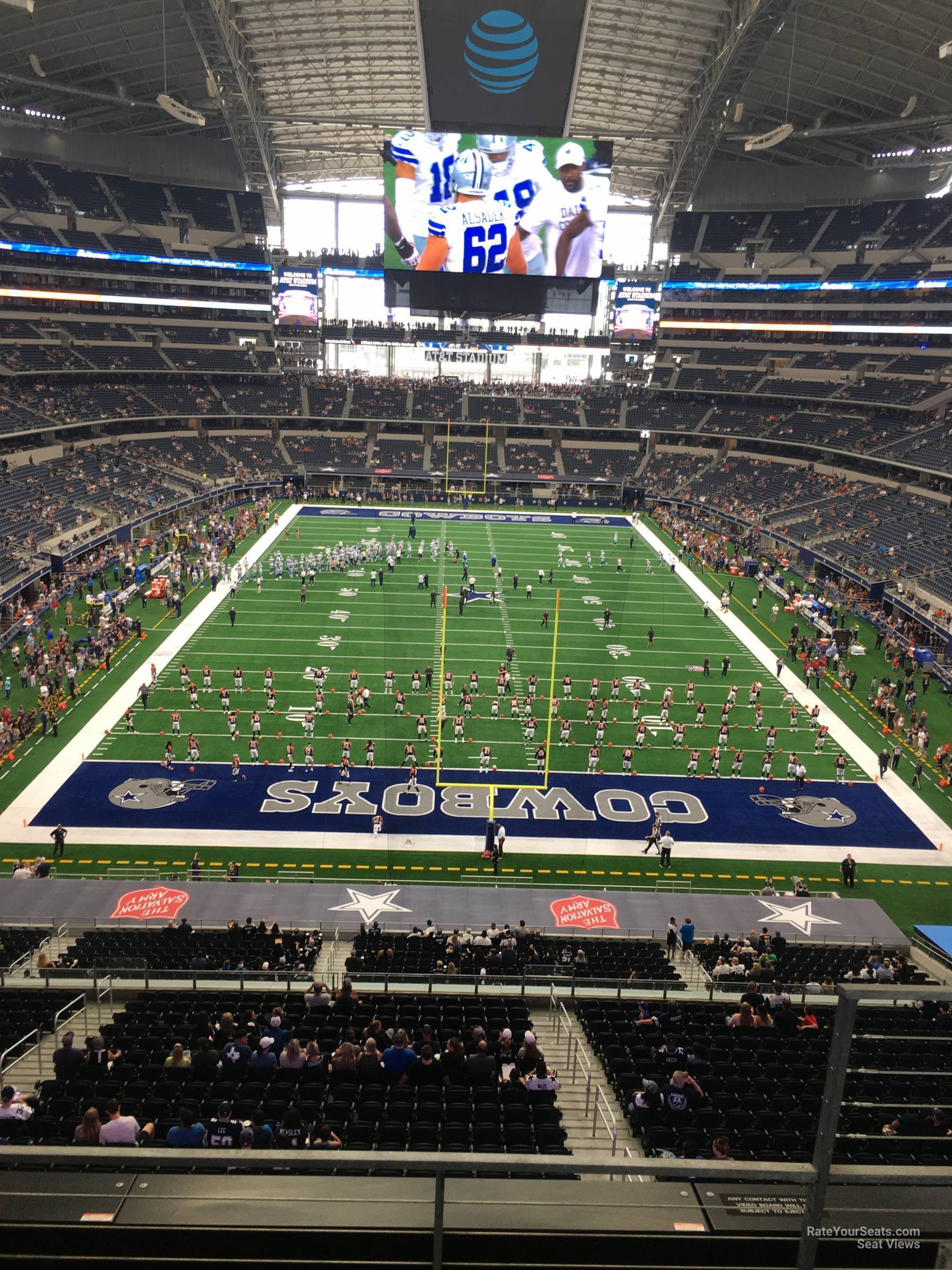 Dallas Cowboys Seat View For At T Stadium Section 348
