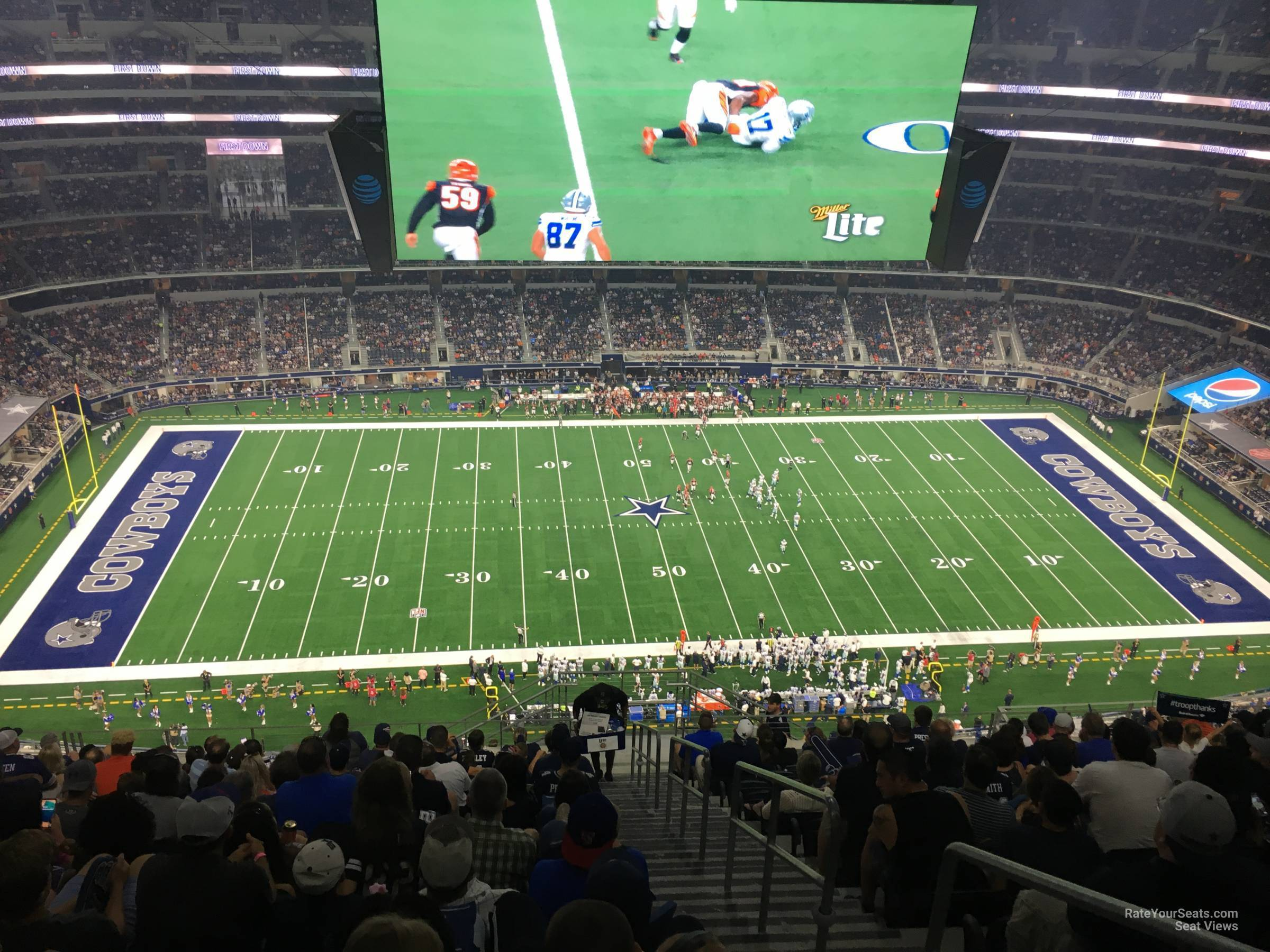 AT&T Stadium Section 413 - Dallas Cowboys - RateYourSeats.com