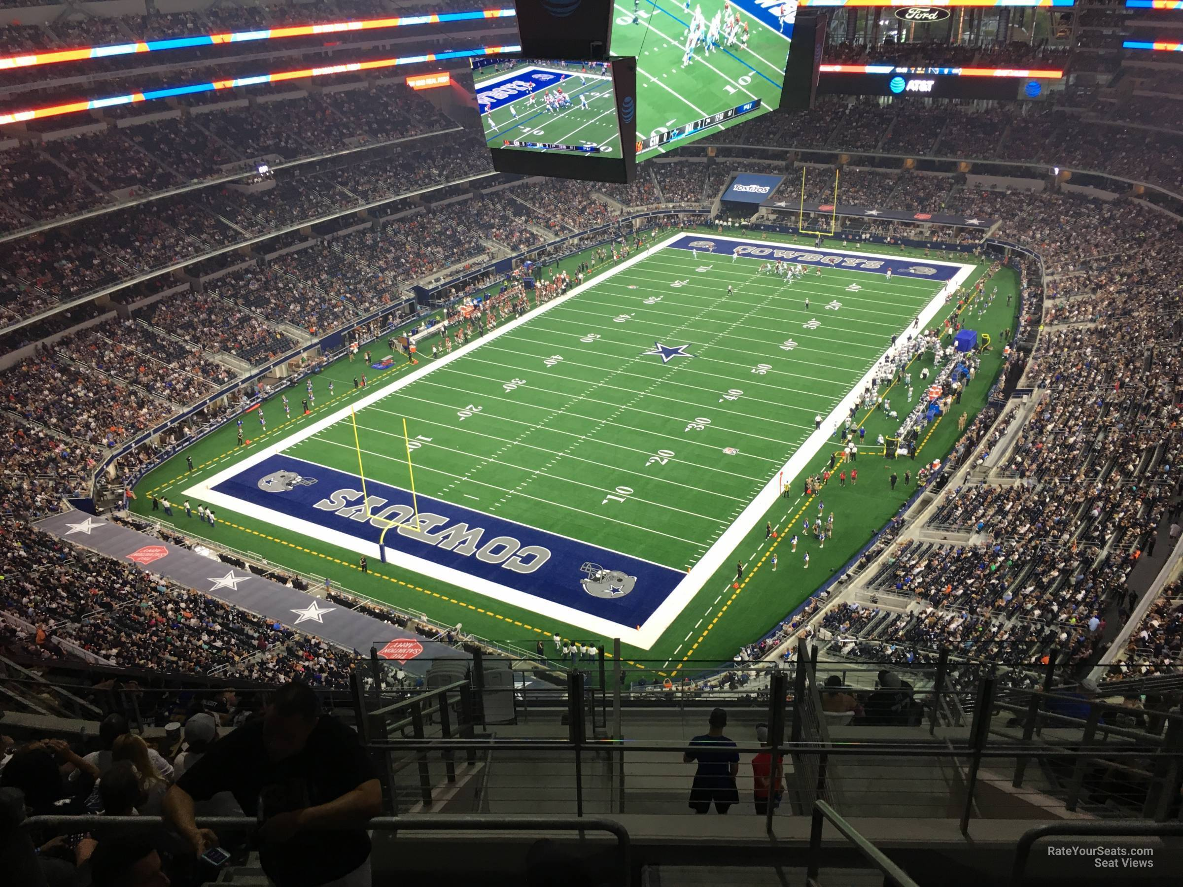 View of AT&T Stadium from section 424