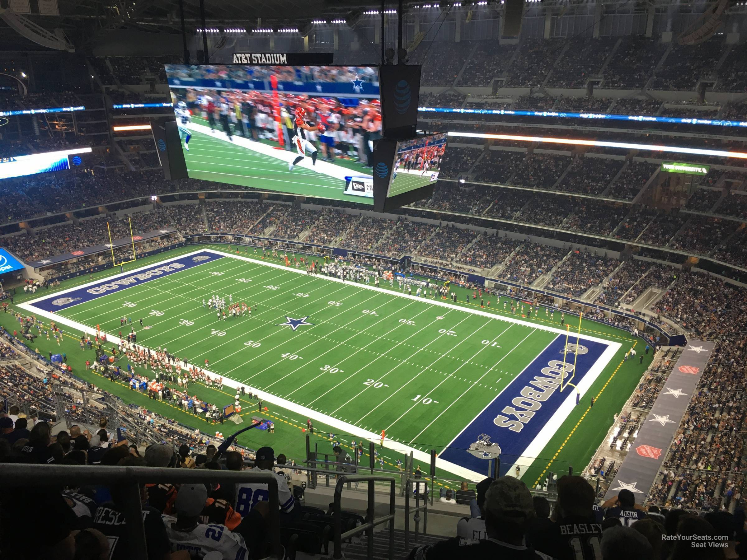 Dallas Cowboys Seat View for AT&T Stadium Section 426, Row 22