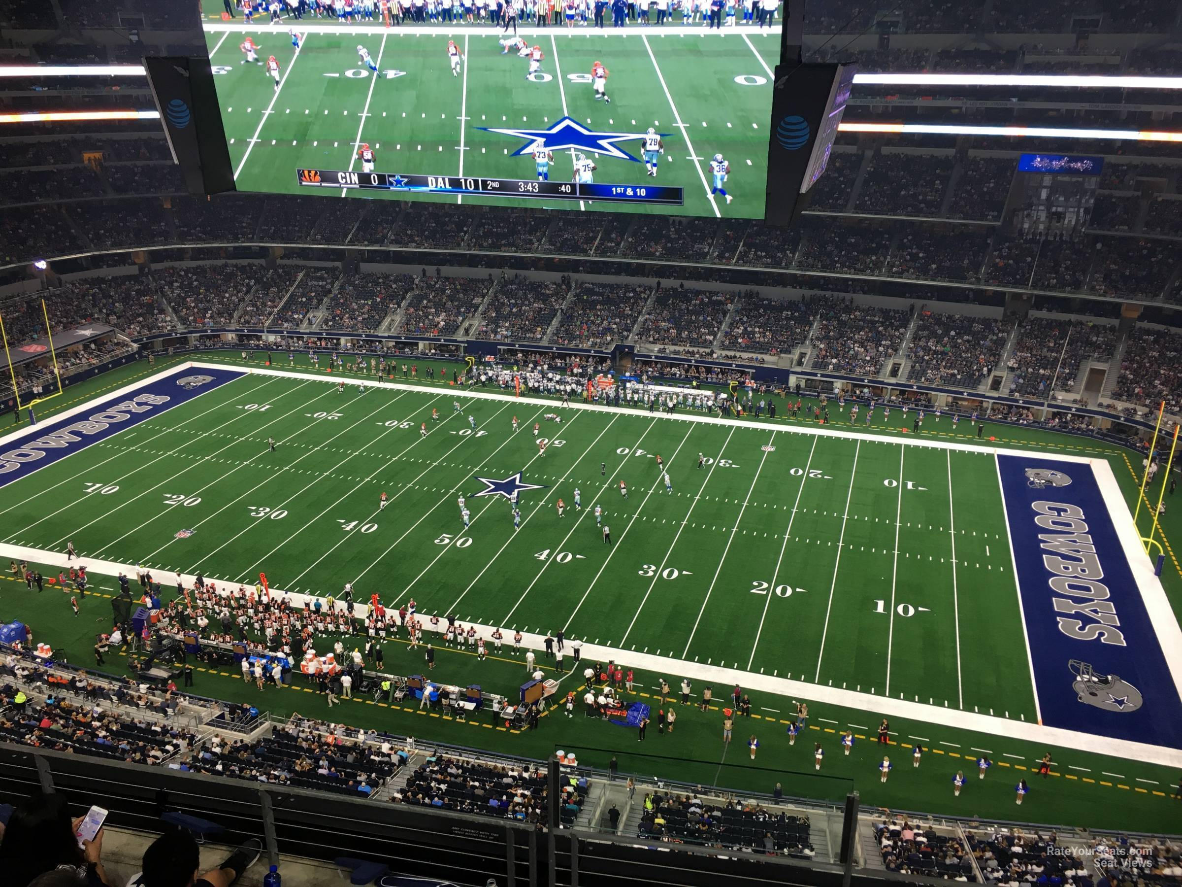 Dallas Cowboys Seat View for AT&T Stadium Section 441, Row 22